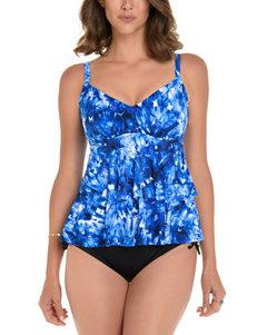 Trimshaper Blue Swimsuit Tops Tankini
