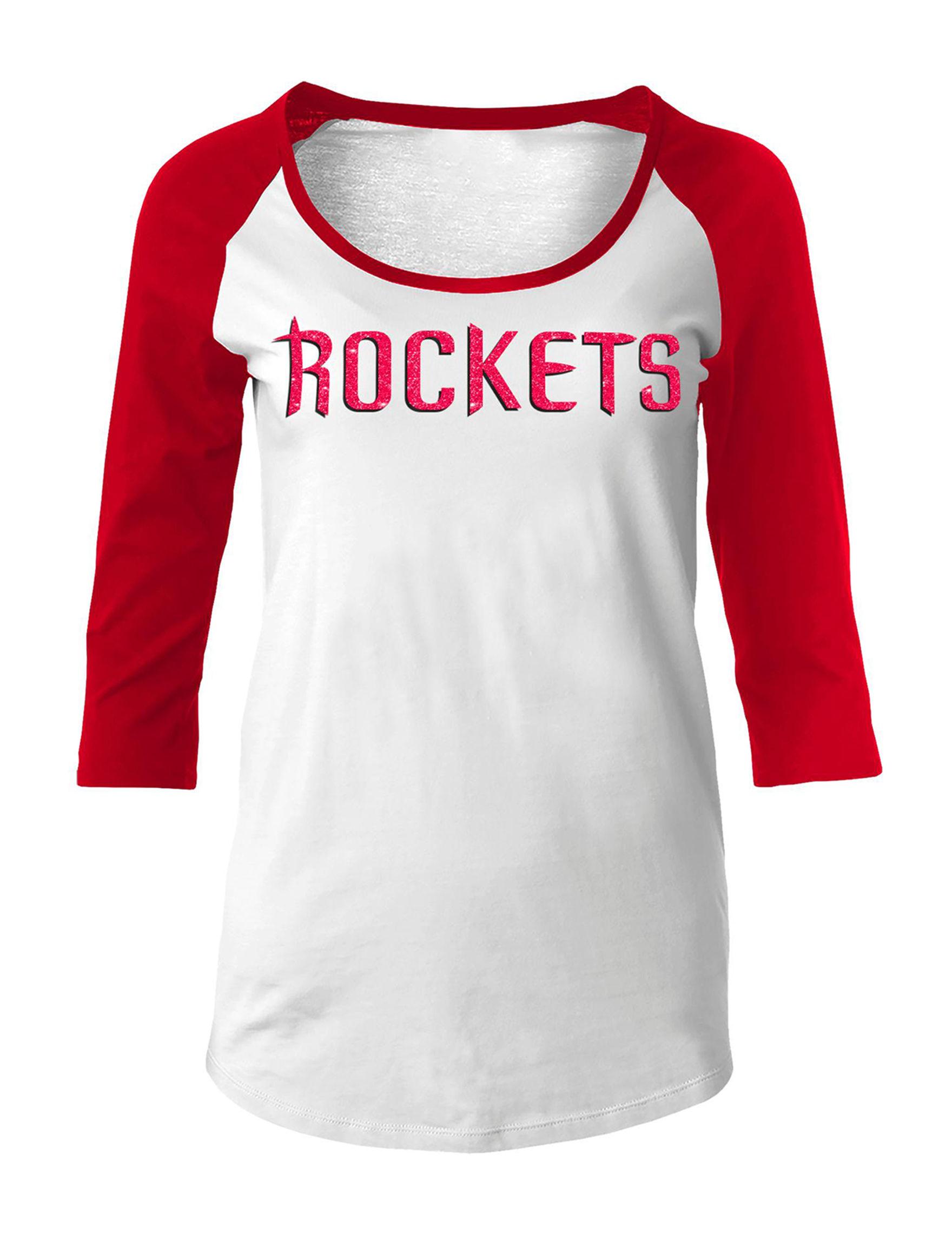 NBA White / Red Tees & Tanks