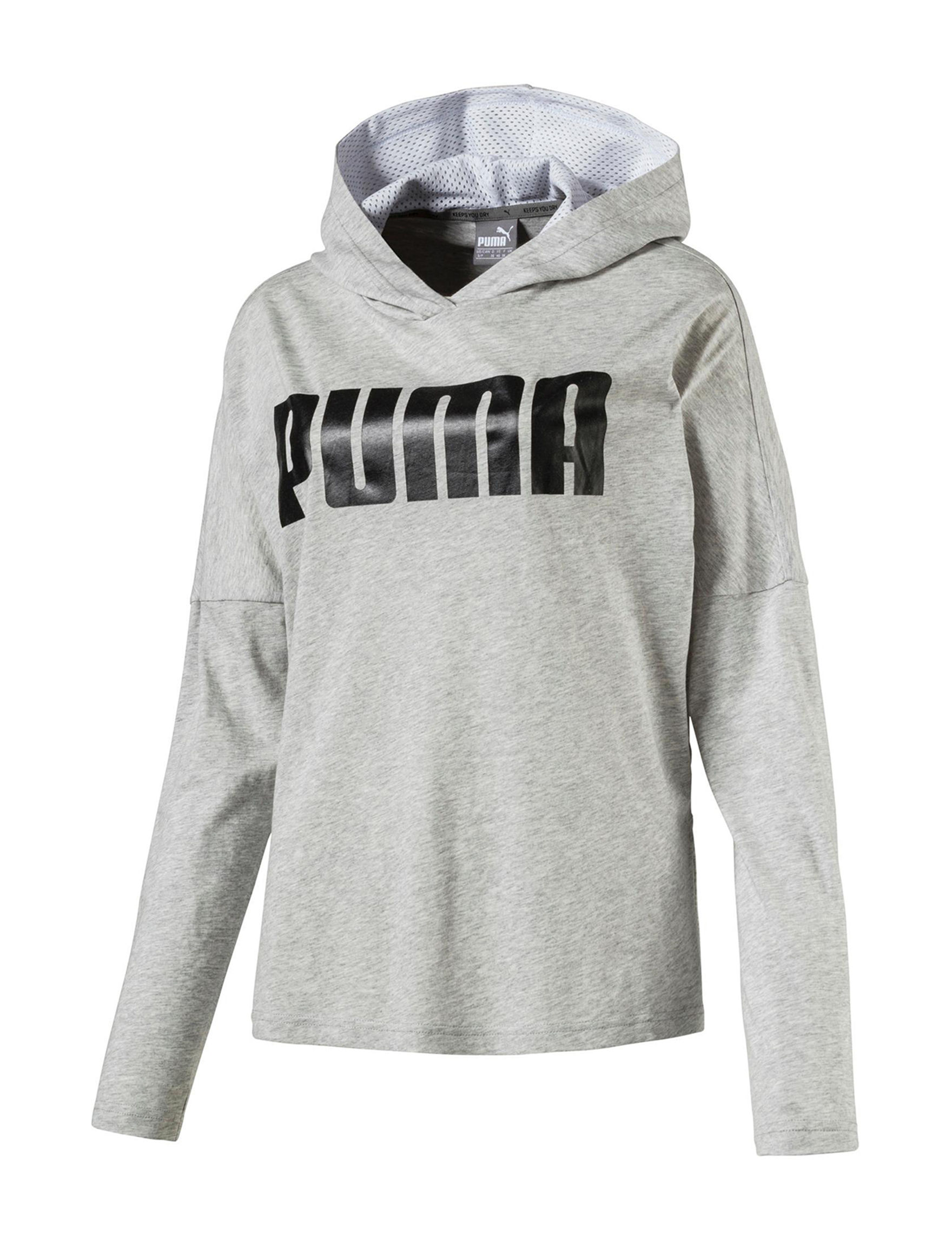 Puma Grey Tees & Tanks