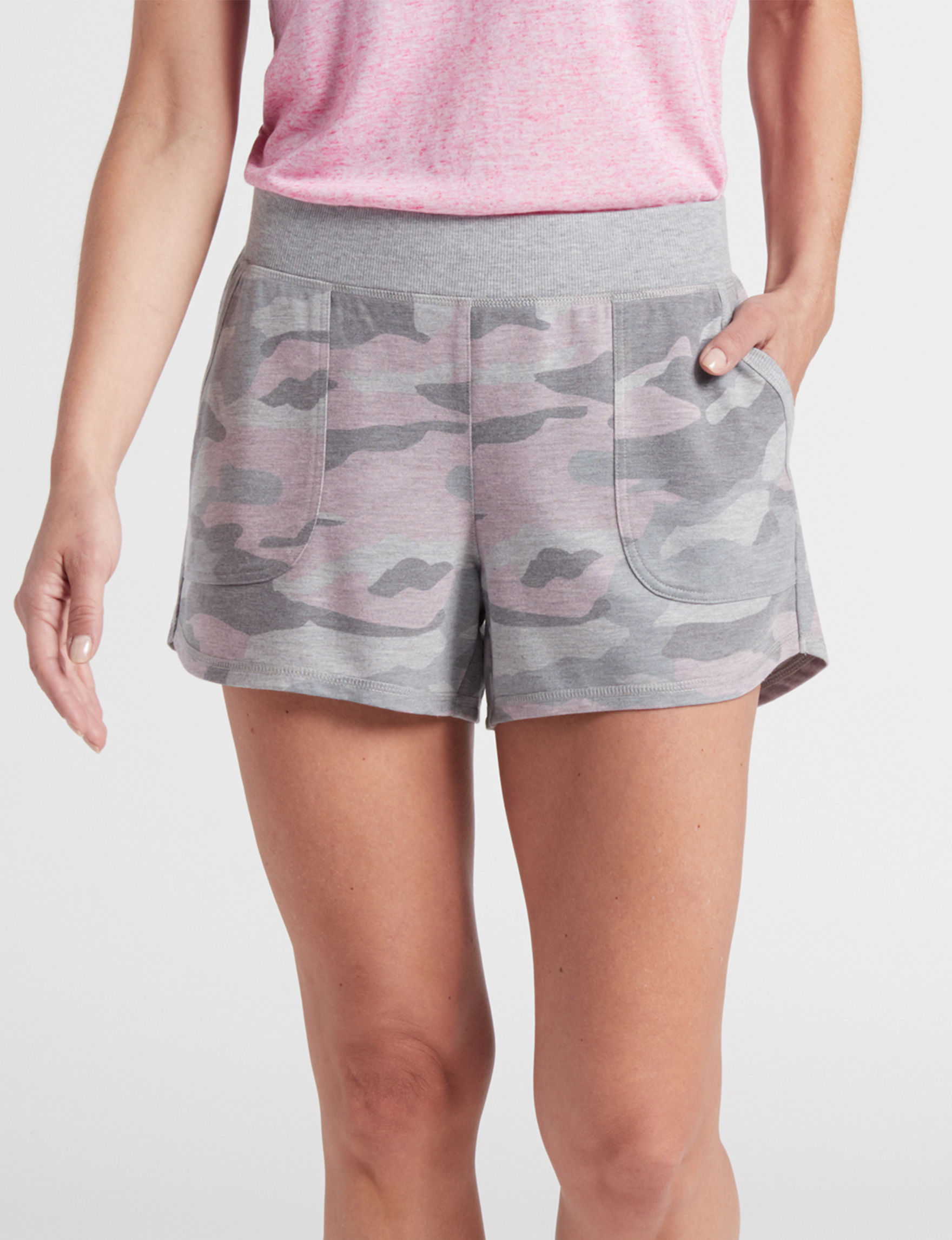 RBX Grey / Pink Soft Shorts