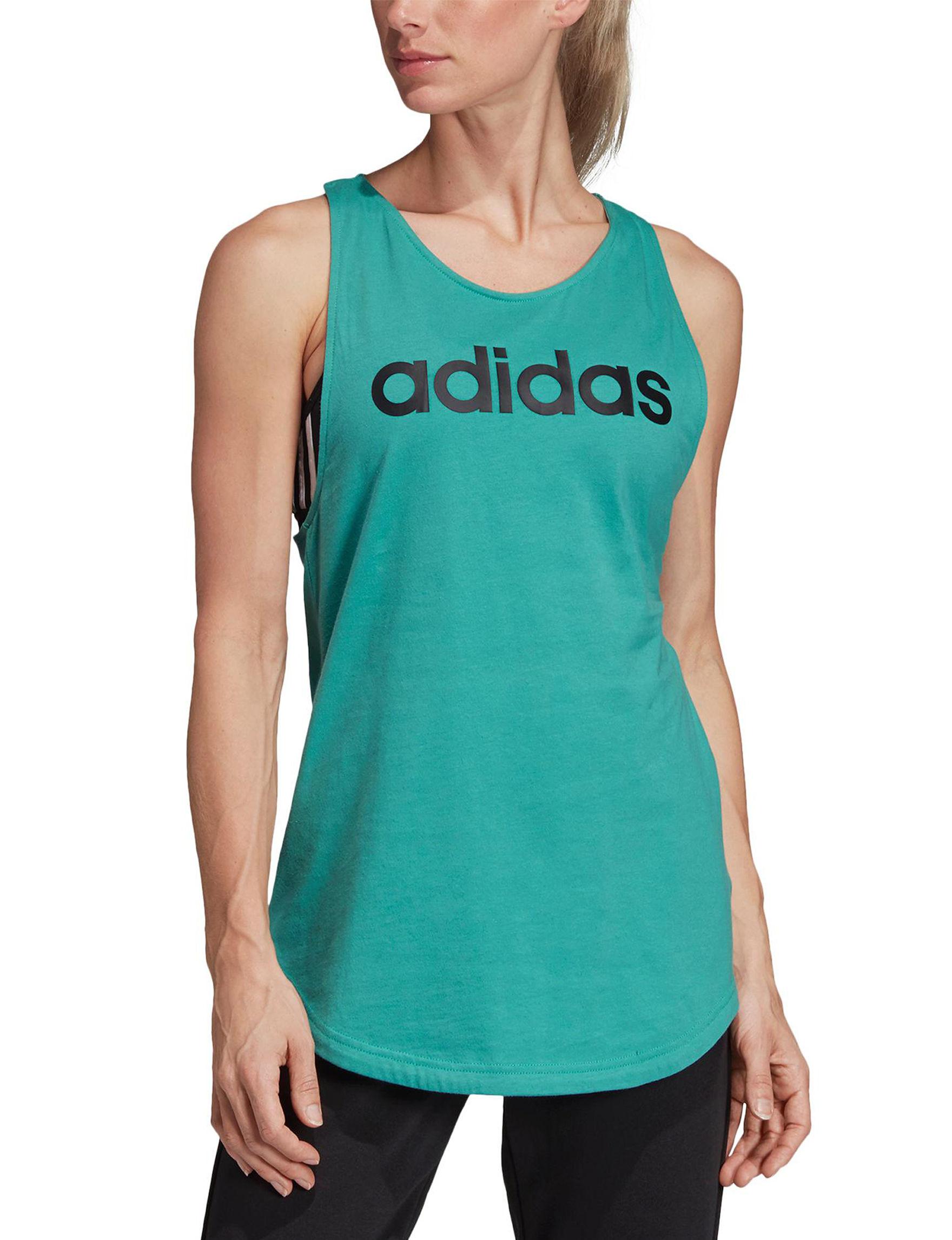 Adidas Aqua / Black Tees & Tanks