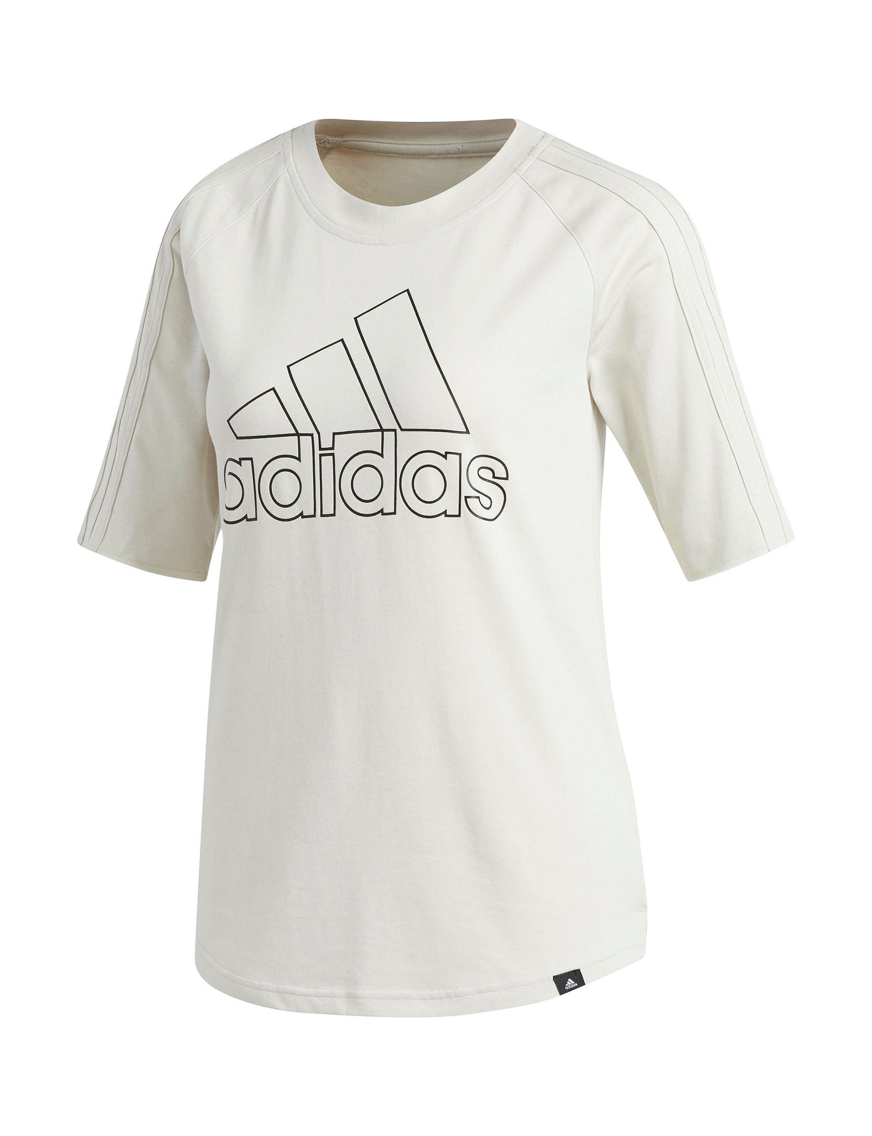Adidas White / Black Tees & Tanks