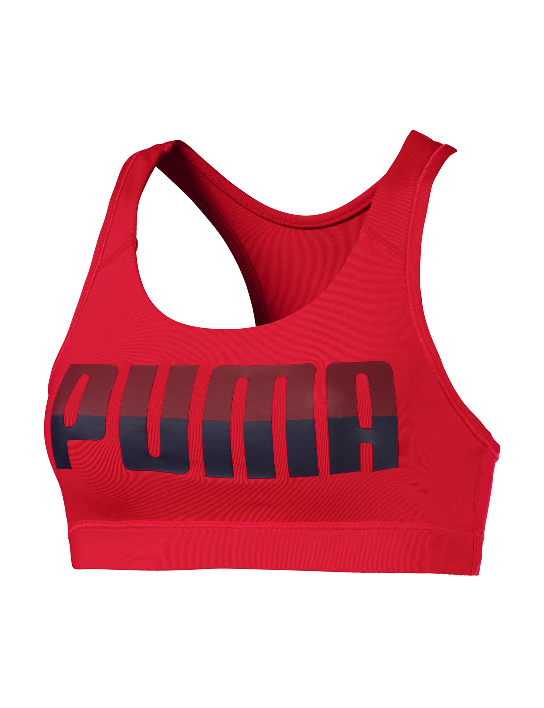 Puma Red Bras Racerback Sports Bra