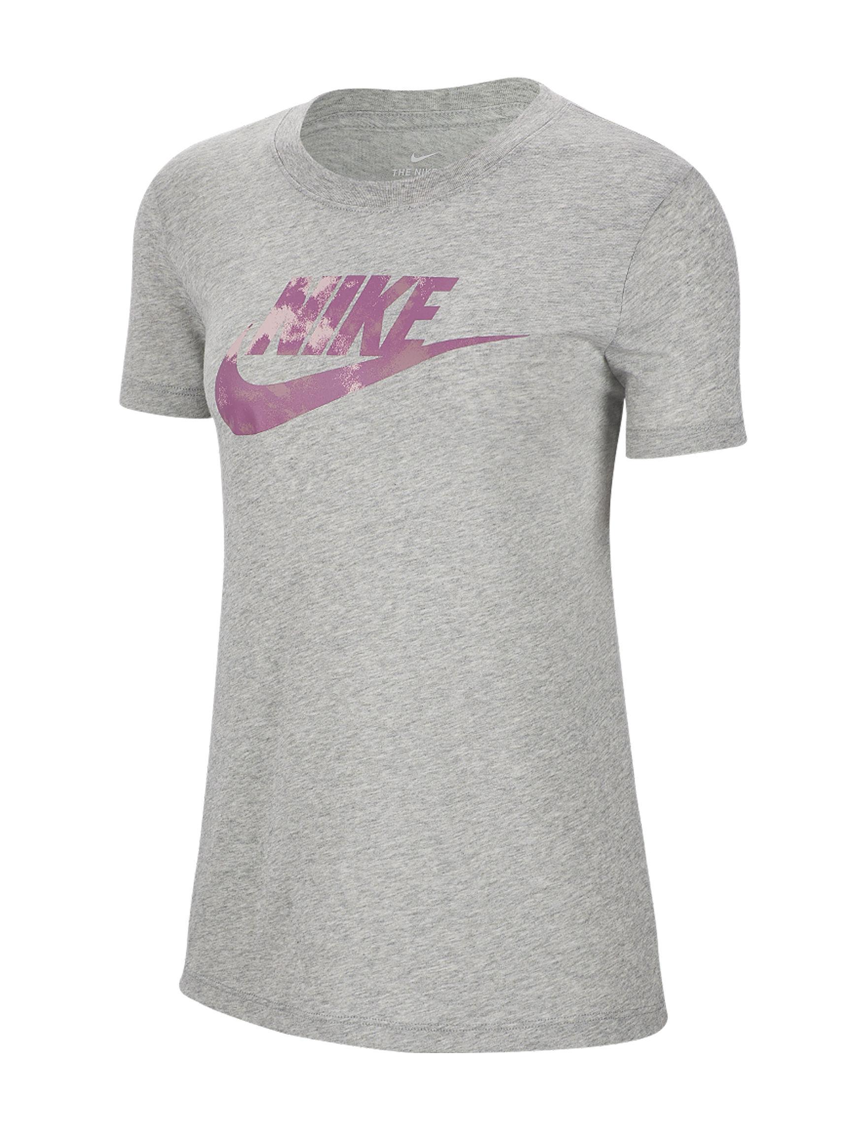 Nike Grey / Pink Tees & Tanks