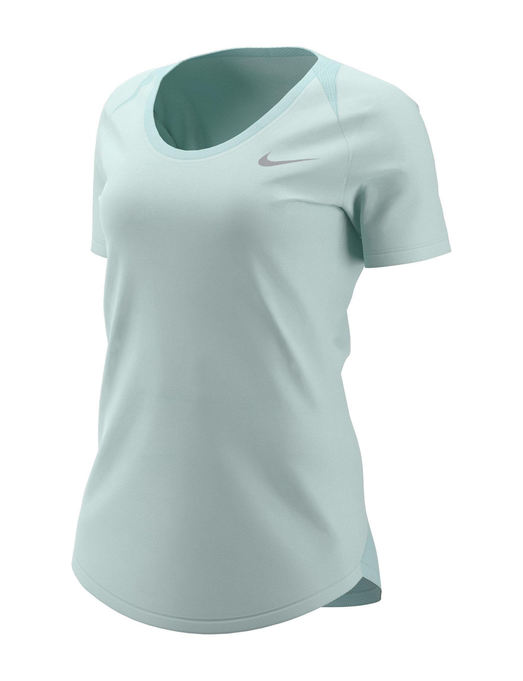 Nike Turquoise Tees & Tanks
