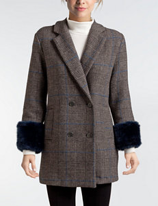 Mo-Ka Grey Peacoats & Overcoats