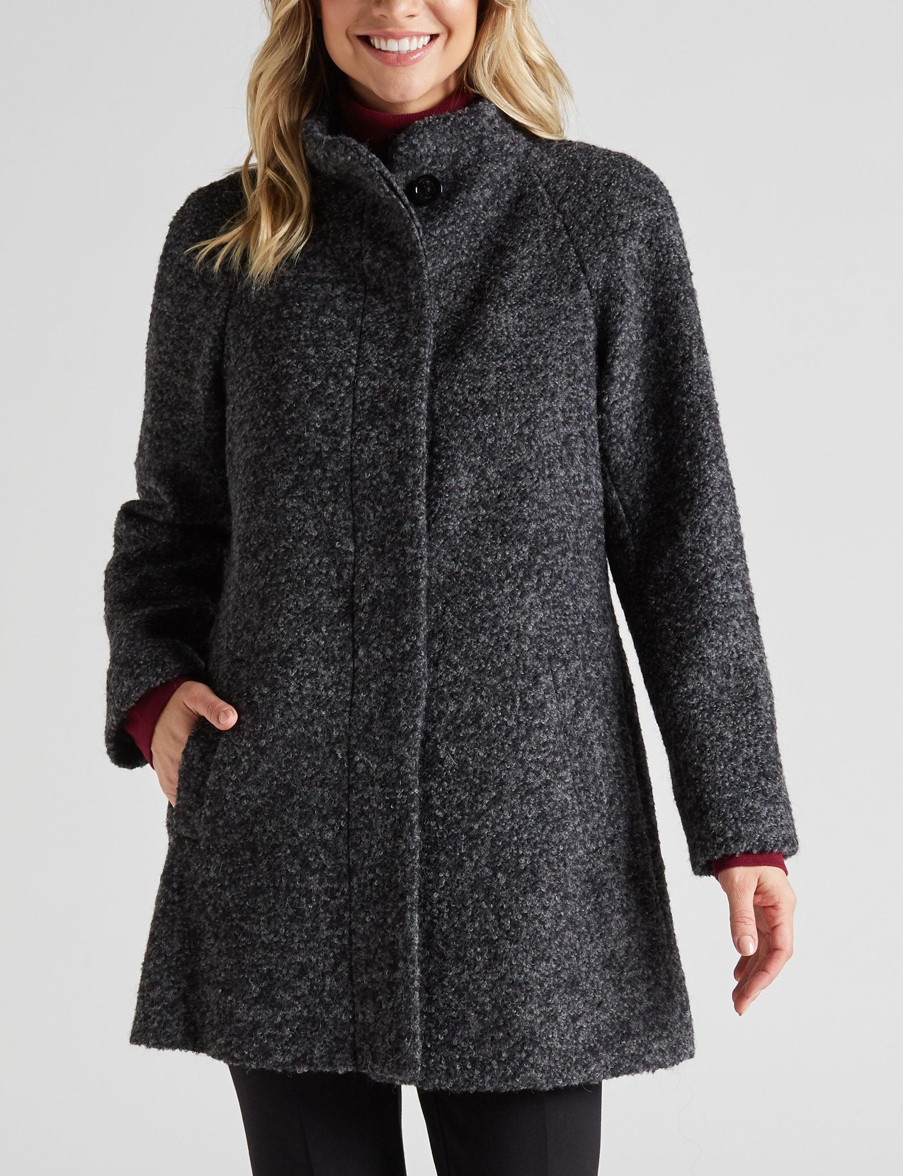 Anne Klein Charcoal Peacoats & Overcoats