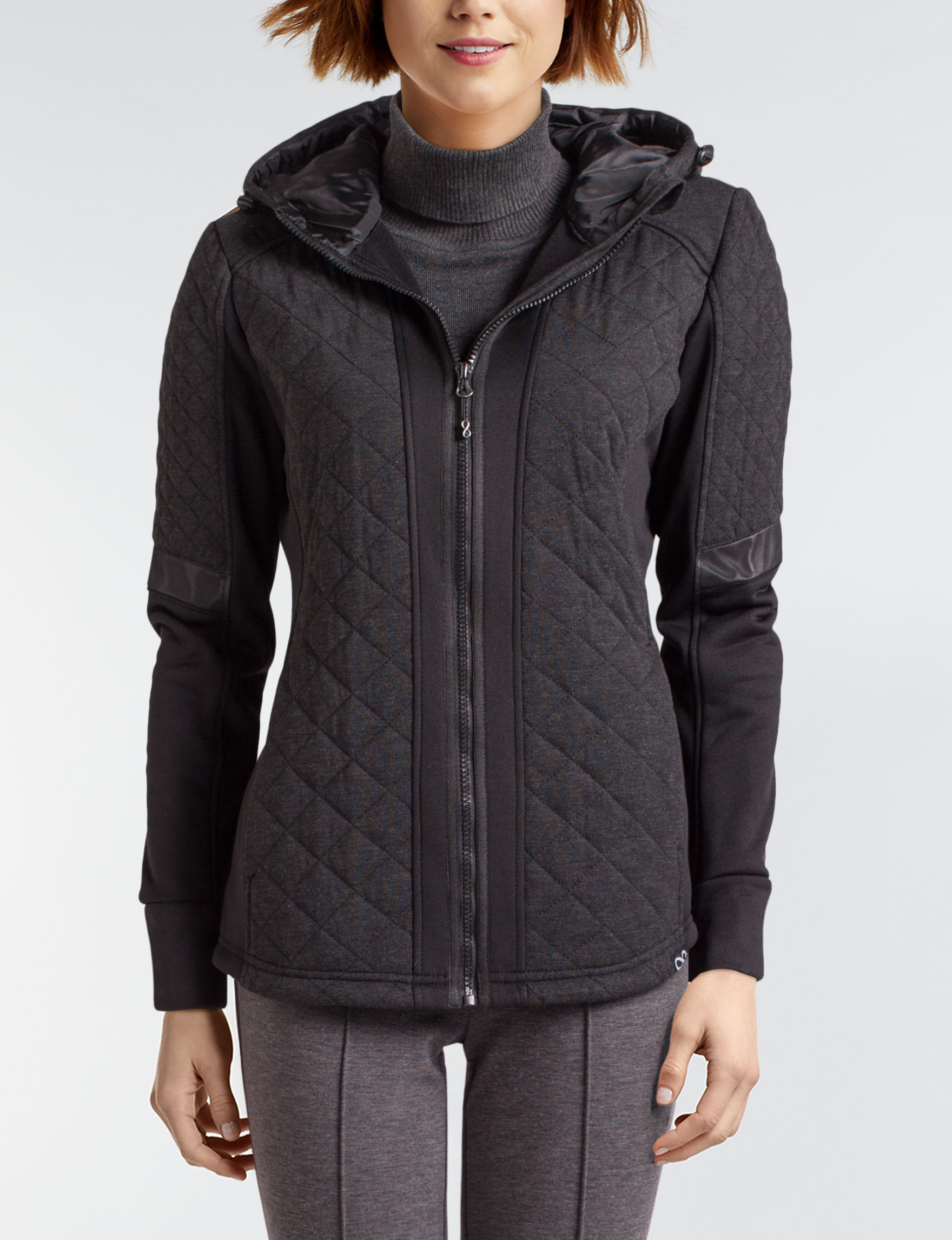 Be Boundless Charcoal Puffer & Quilted Jackets