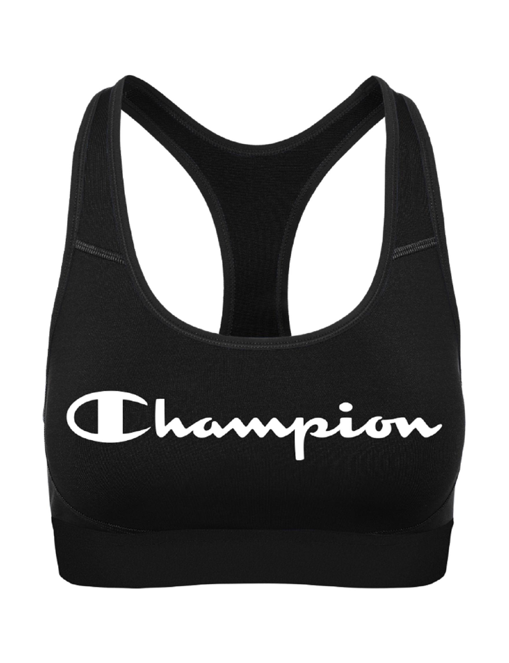 Champion Black Bras Sports Bra