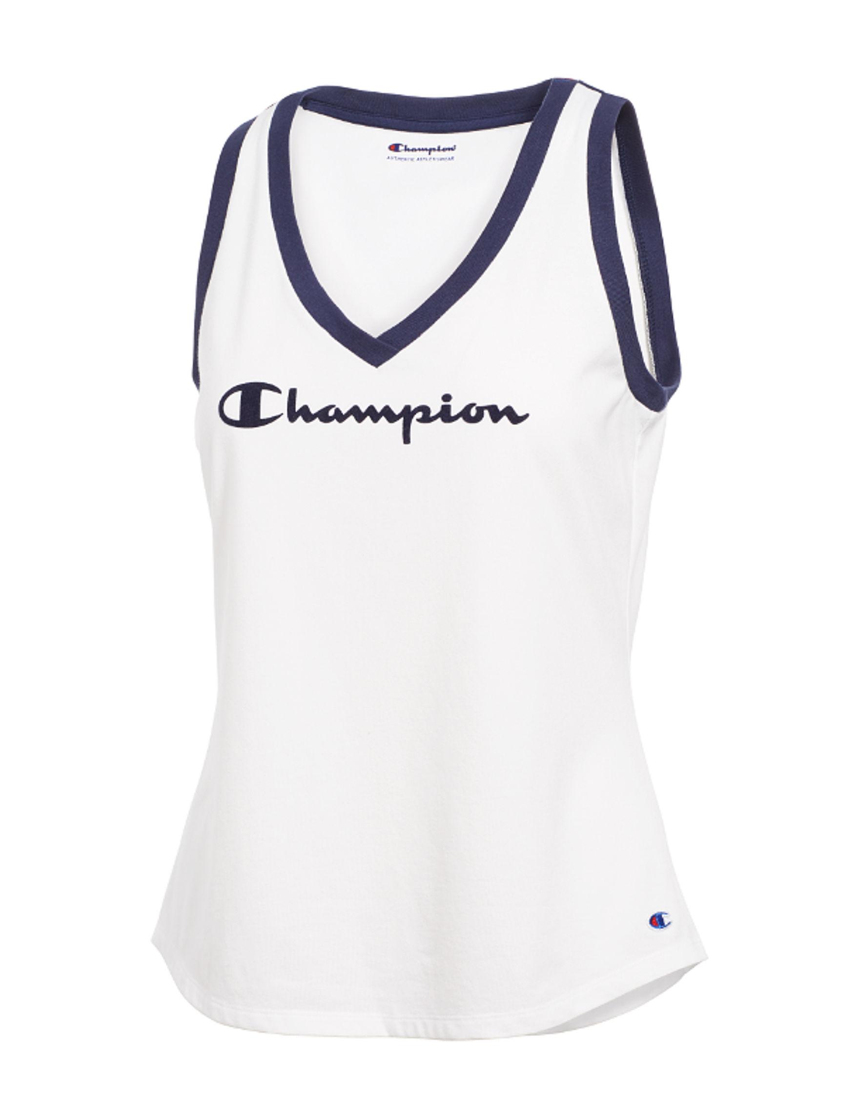Champion White Tees & Tanks