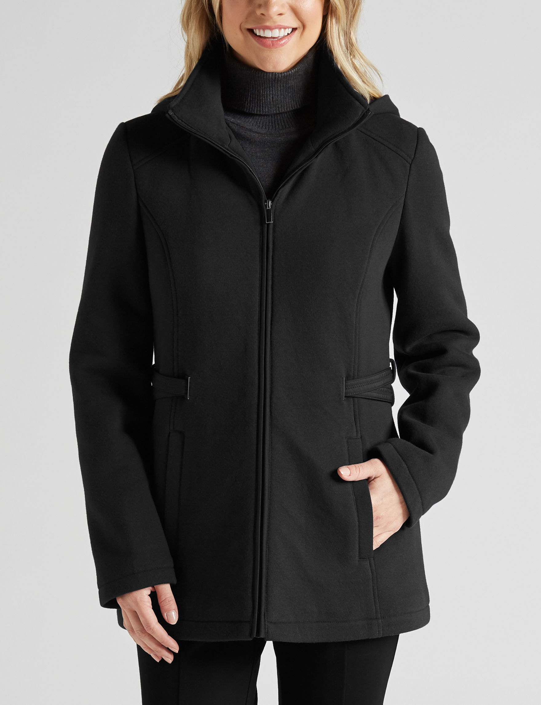 Valerie Stevens Black Fleece & Soft Shell Jackets