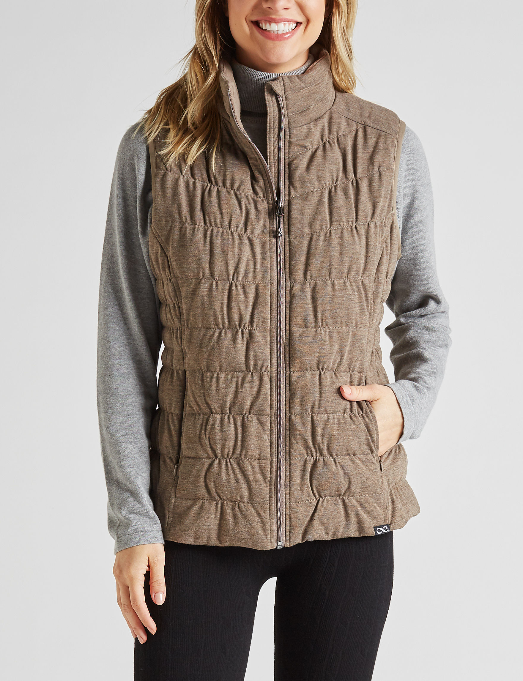 Be Boundless Brown Puffer & Quilted Jackets