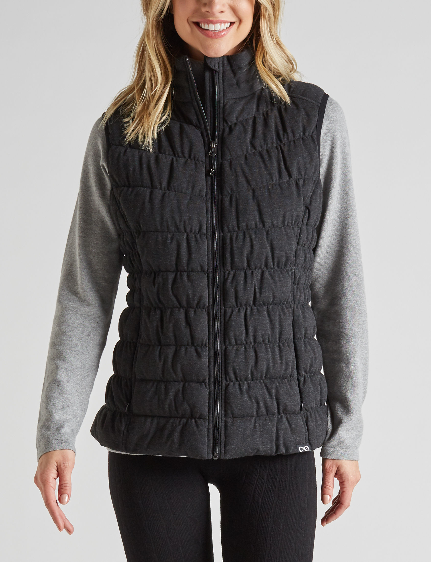 Be Boundless Grey Puffer & Quilted Jackets