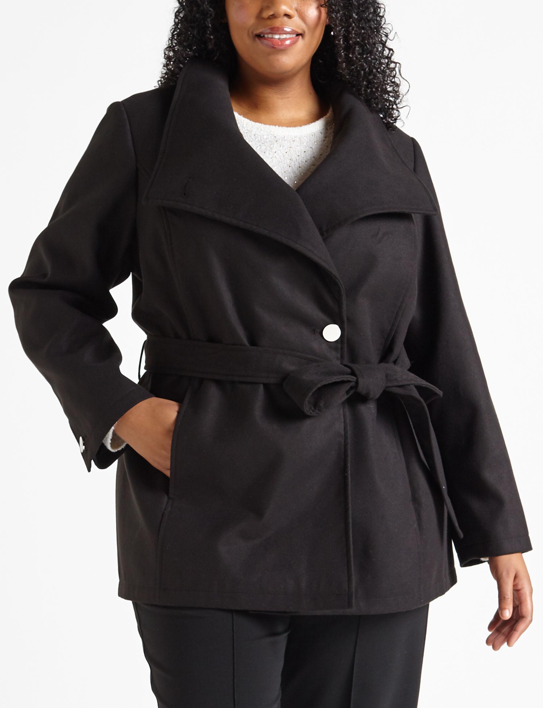 Details Black Peacoats & Overcoats