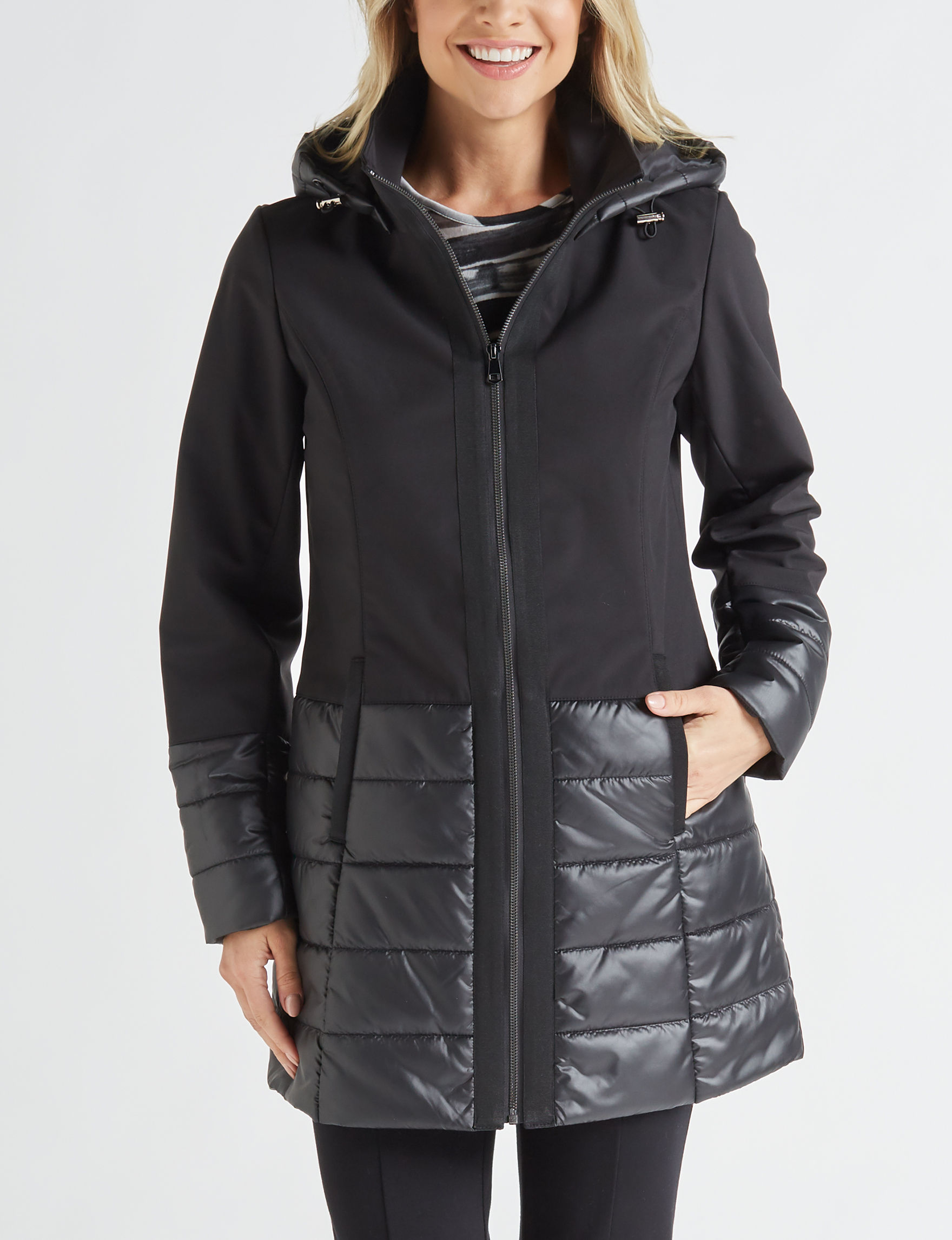 Sebby Collection Black Fleece & Soft Shell Jackets