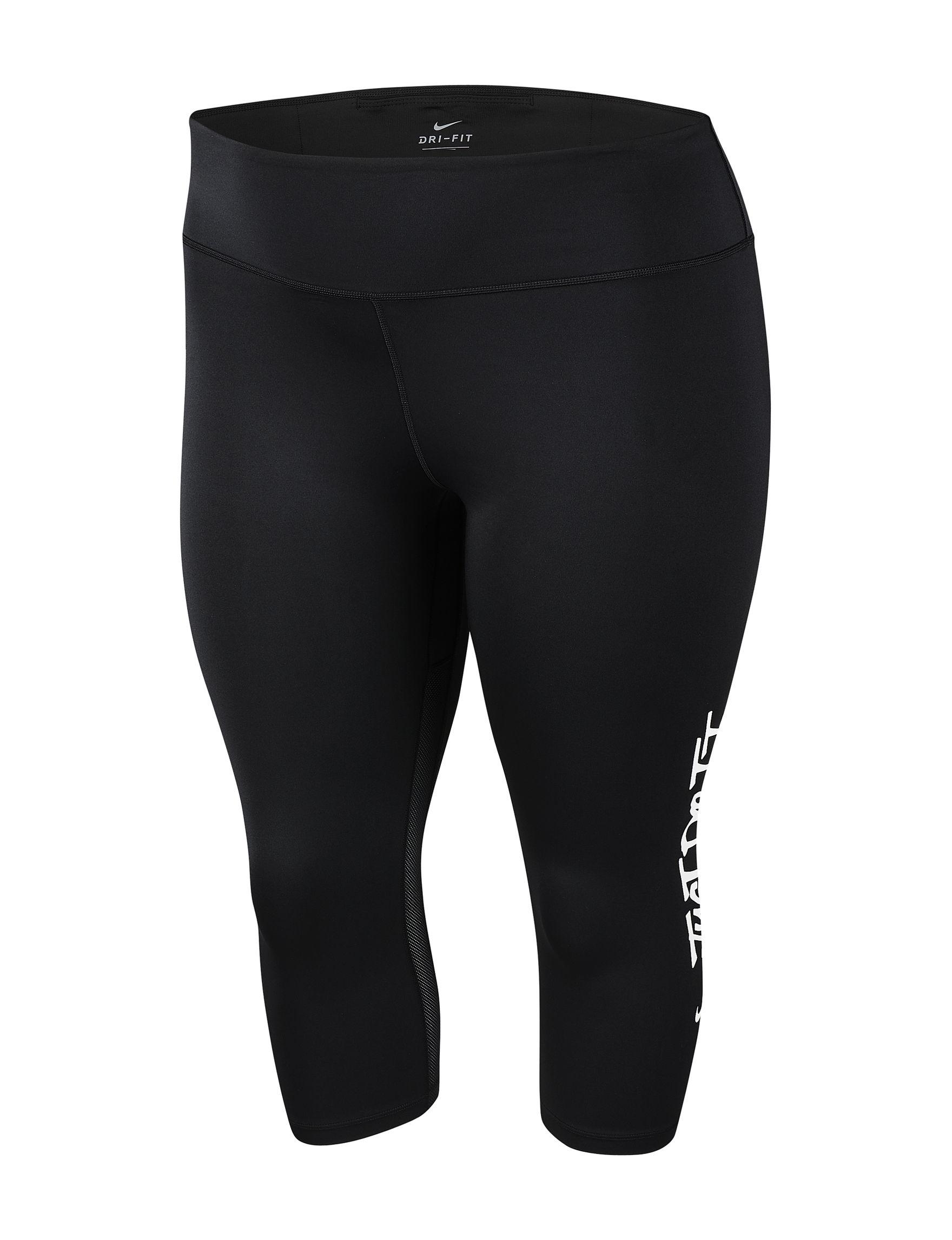 Nike Black Capris & Crops Leggings