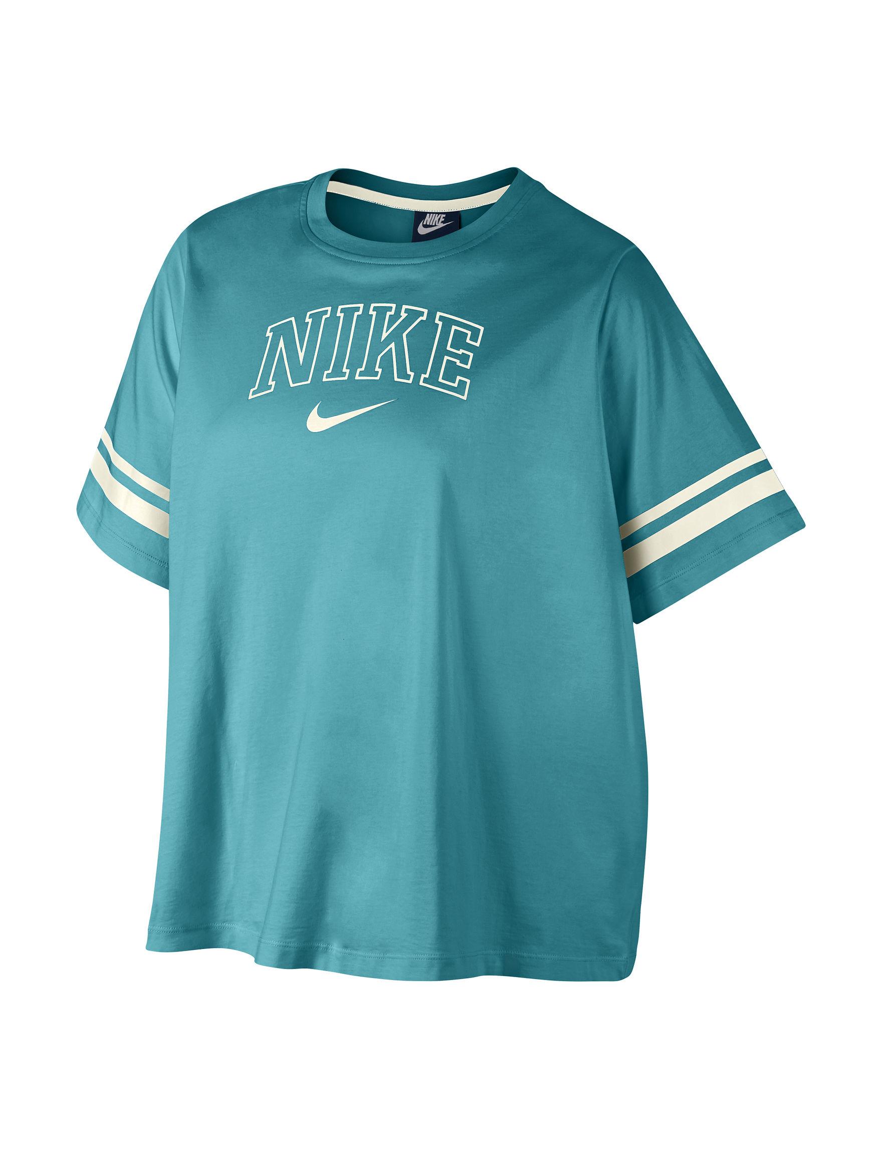 Nike Teal Tees & Tanks