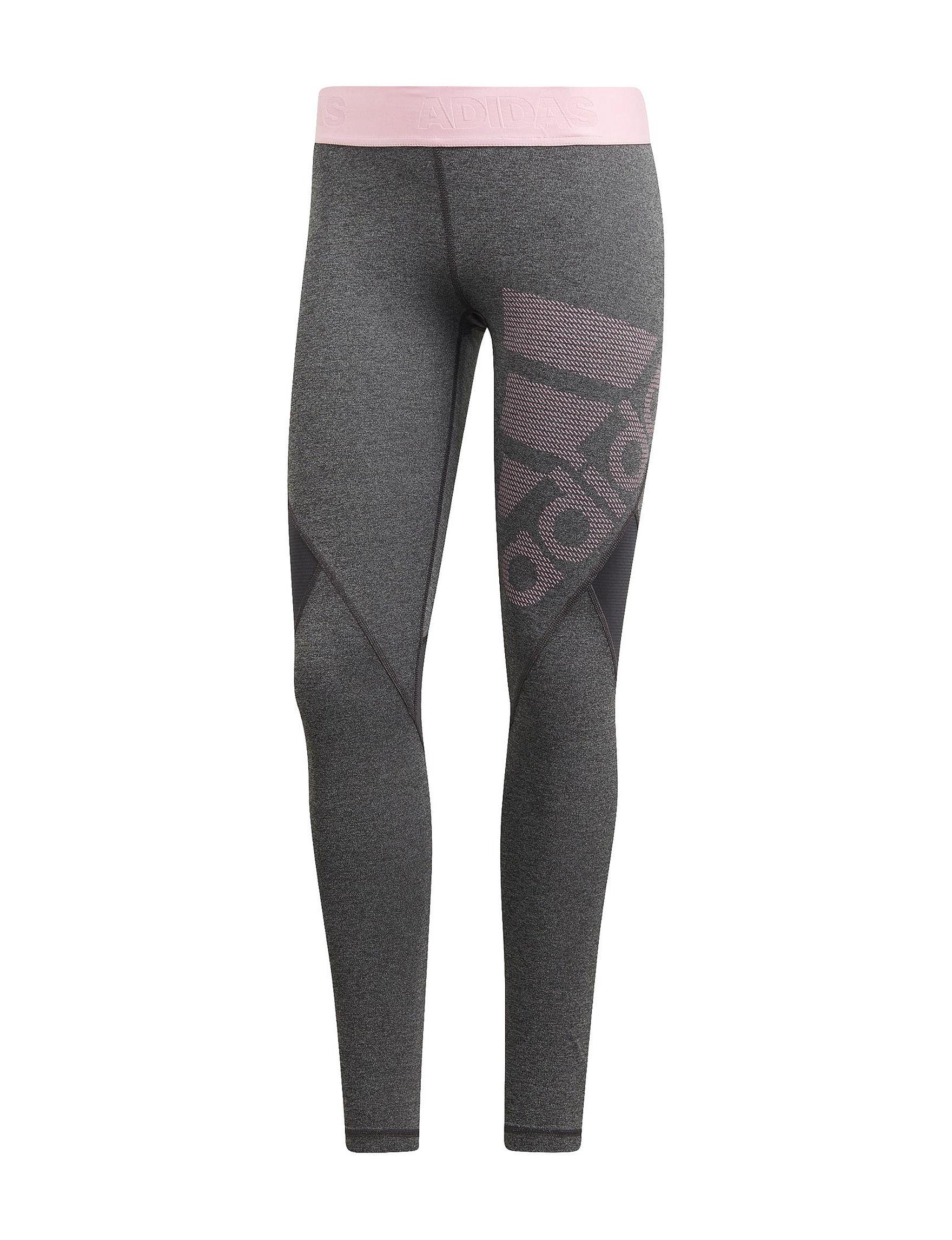 Adidas Grey / Pink Leggings