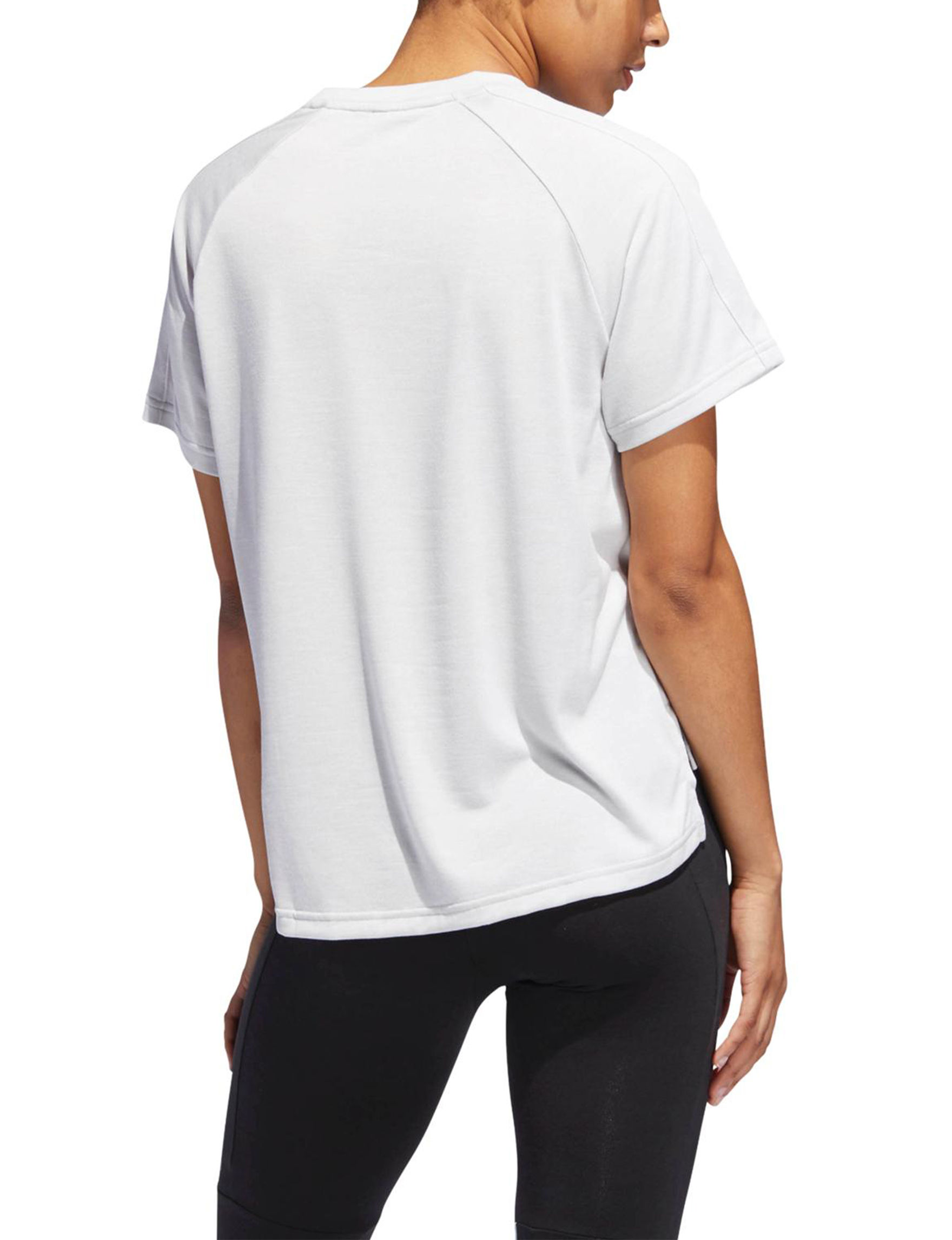 Adidas White / Black Tees & Tanks