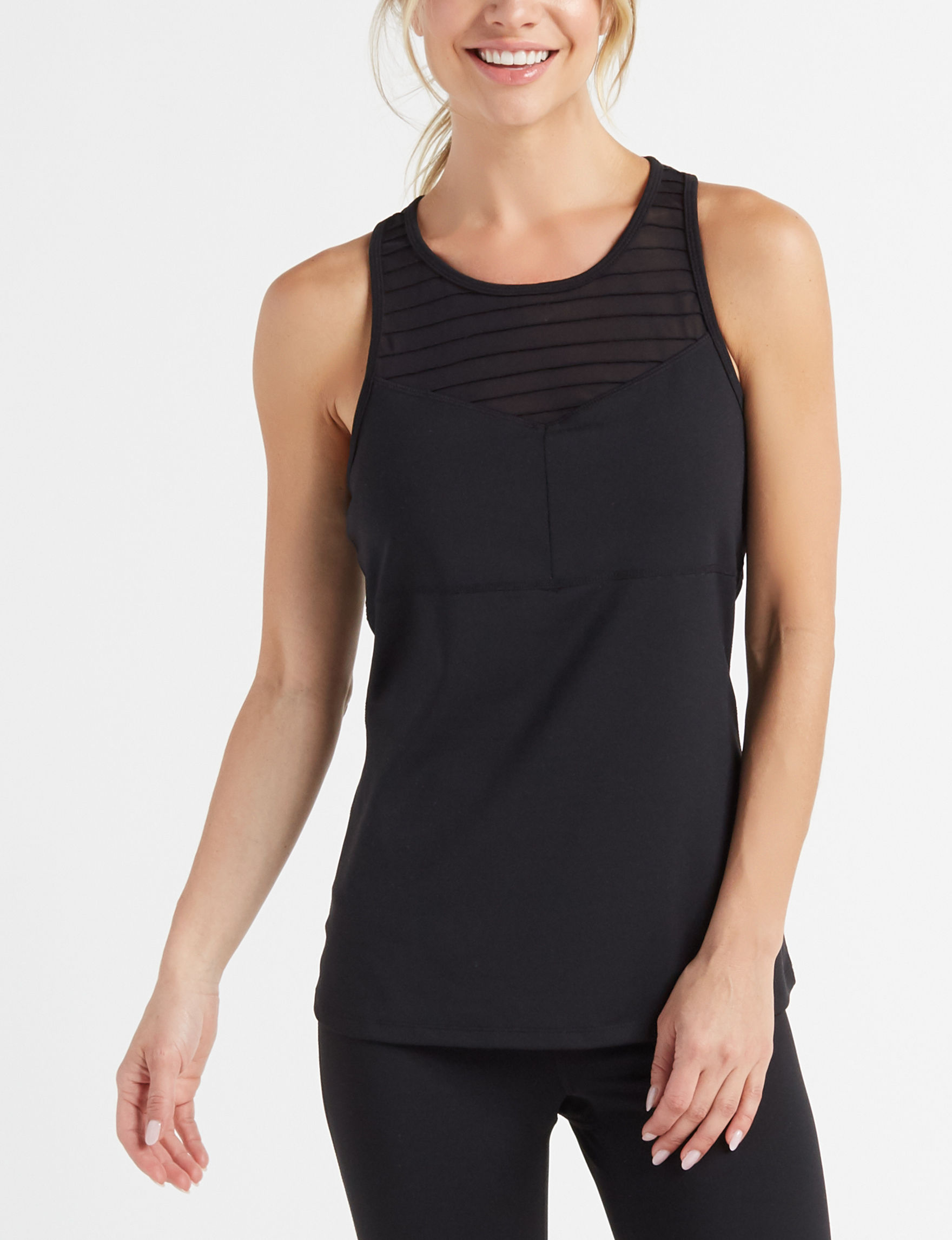 Gaiam Black Tees & Tanks