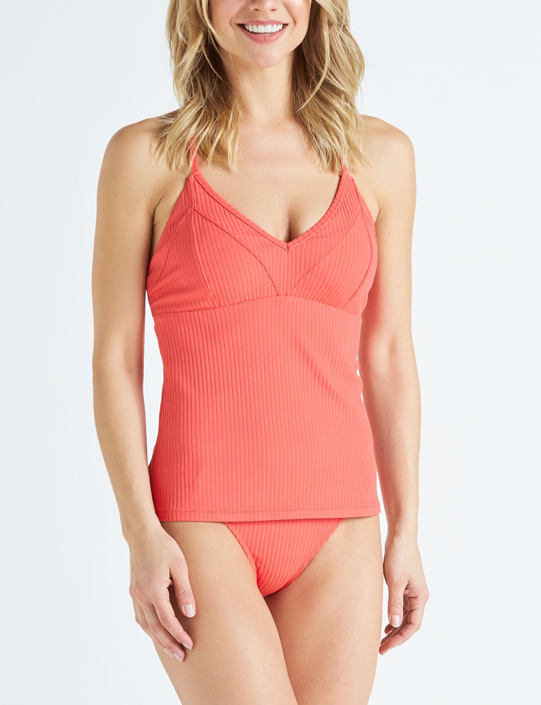 Jessica Simpson Red Swimsuit Tops Tankini