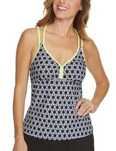 Splashletics Black / White Swimsuit Tops Tankini