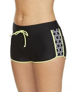 Splashletics Black / White Swimsuit Bottoms Boyshort