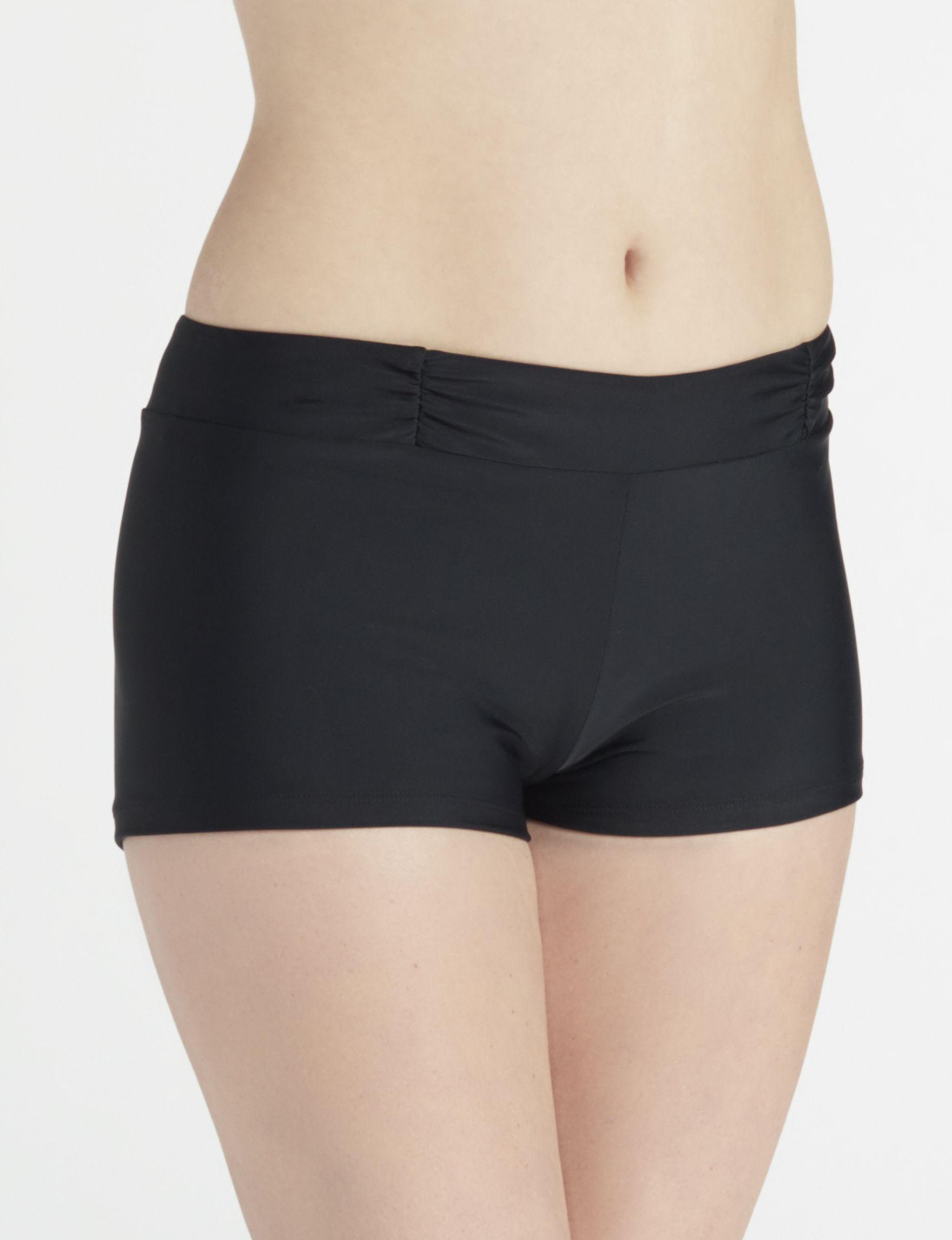 Aqua Couture Black Swimsuit Bottoms Boyshort