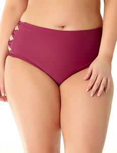 Allure Maroon Swimsuit Bottoms High Waist