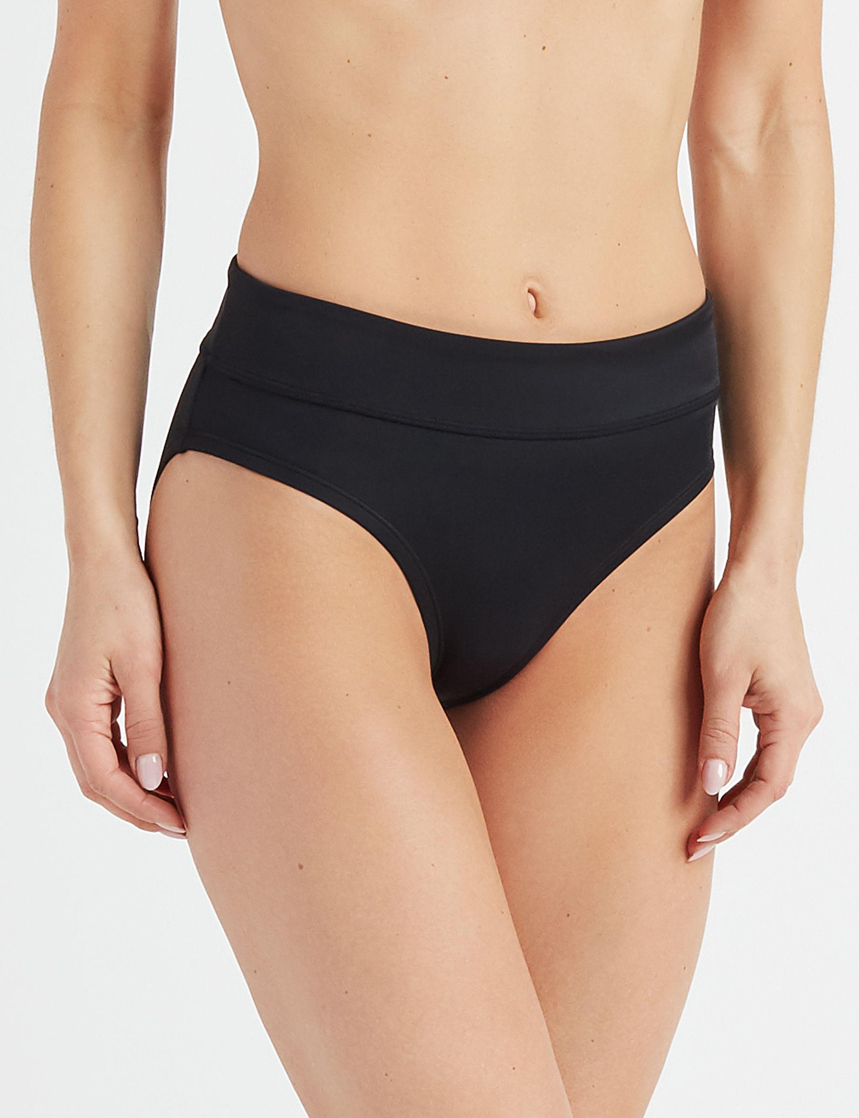 Nike Black Swimsuit Bottoms Hipster