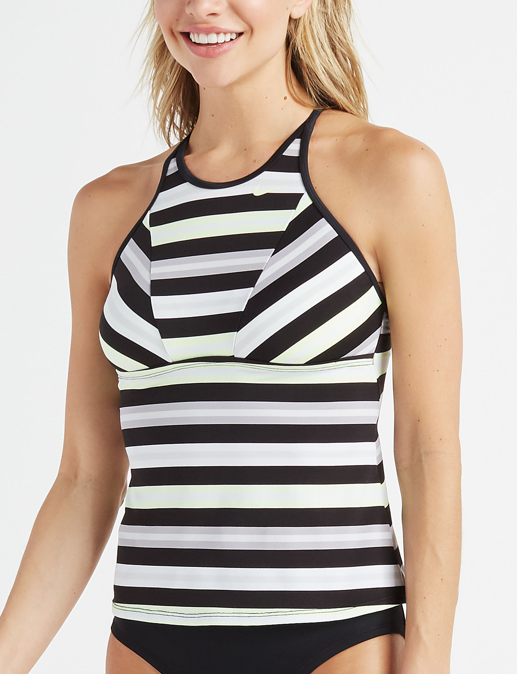 4ae60f58551 Nike Women's Sport Striped High Neck Tankini Swim Top | Stage Stores