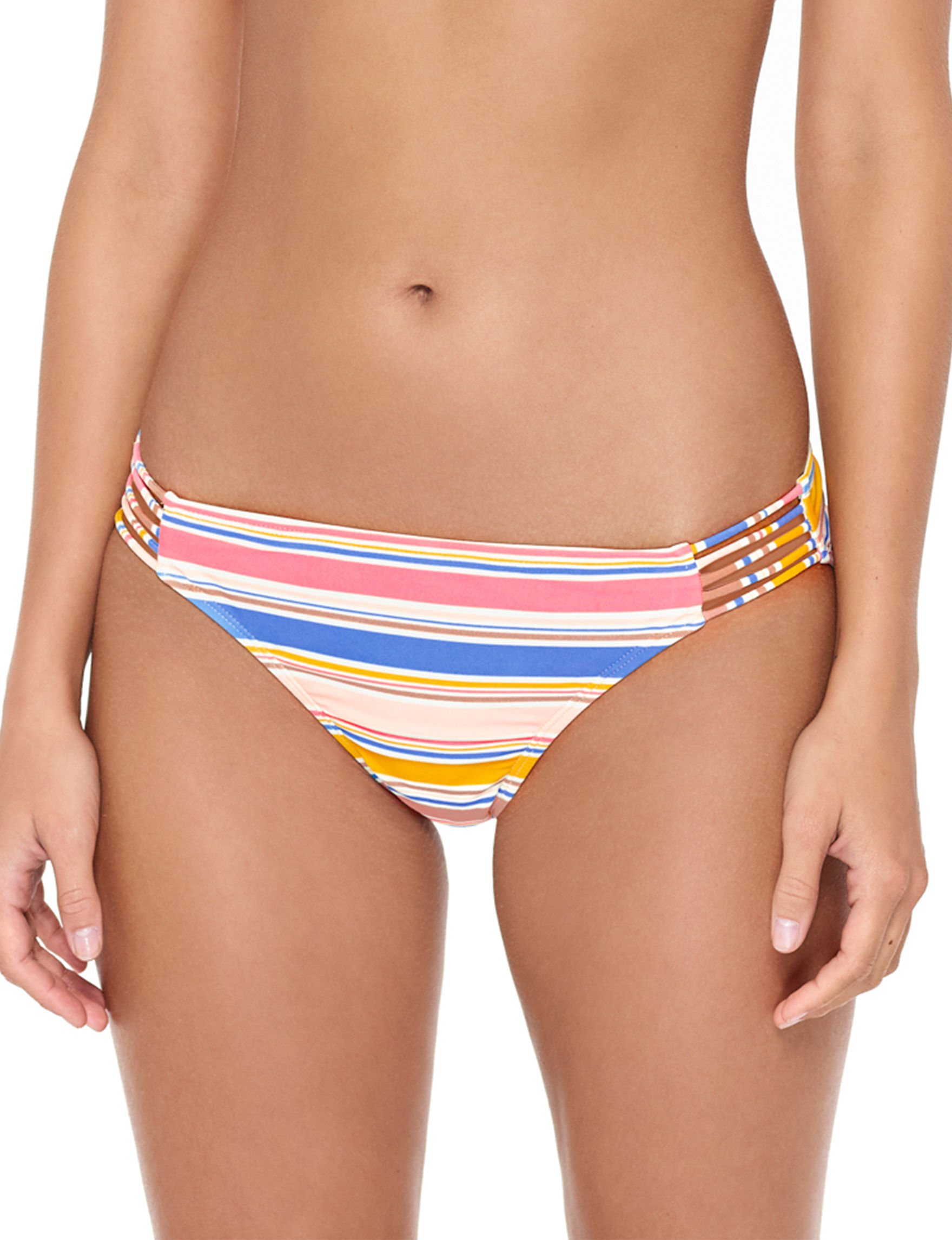 Hot Water Pink Multi Swimsuit Bottoms Hipster