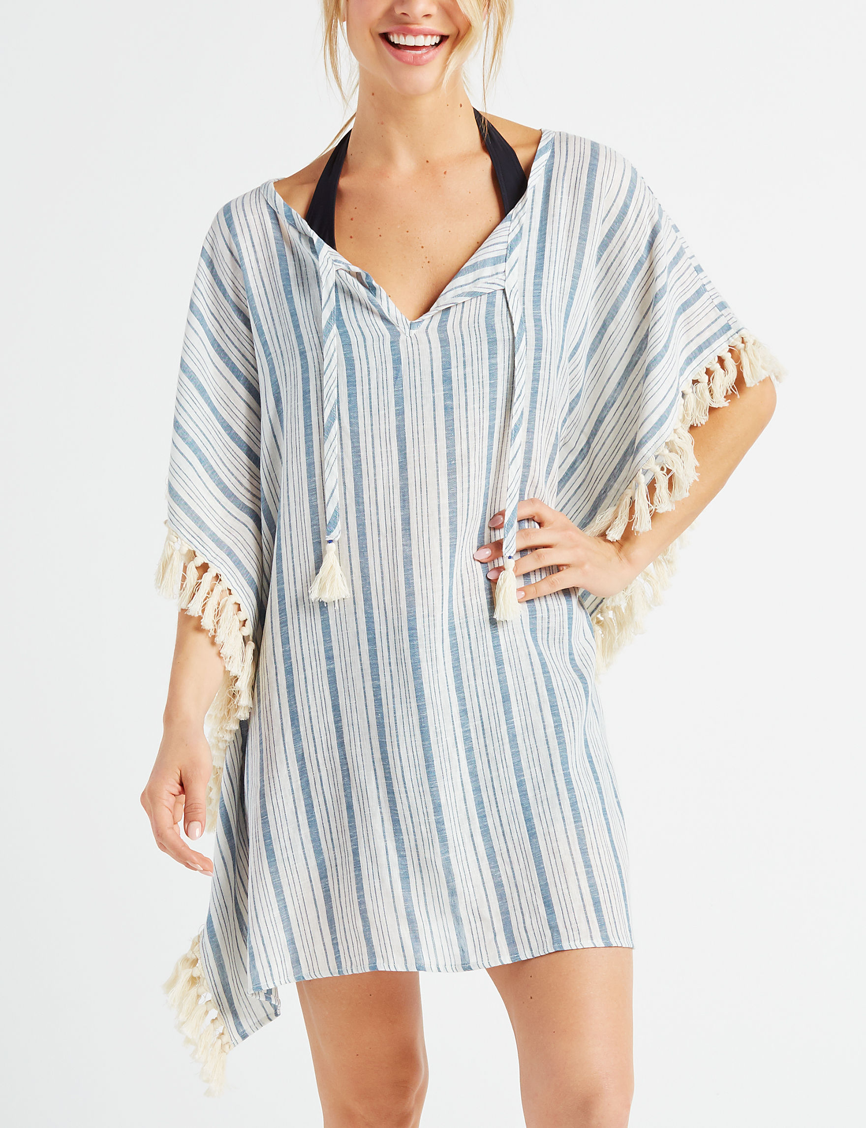 Miken White / Blue Cover-Ups