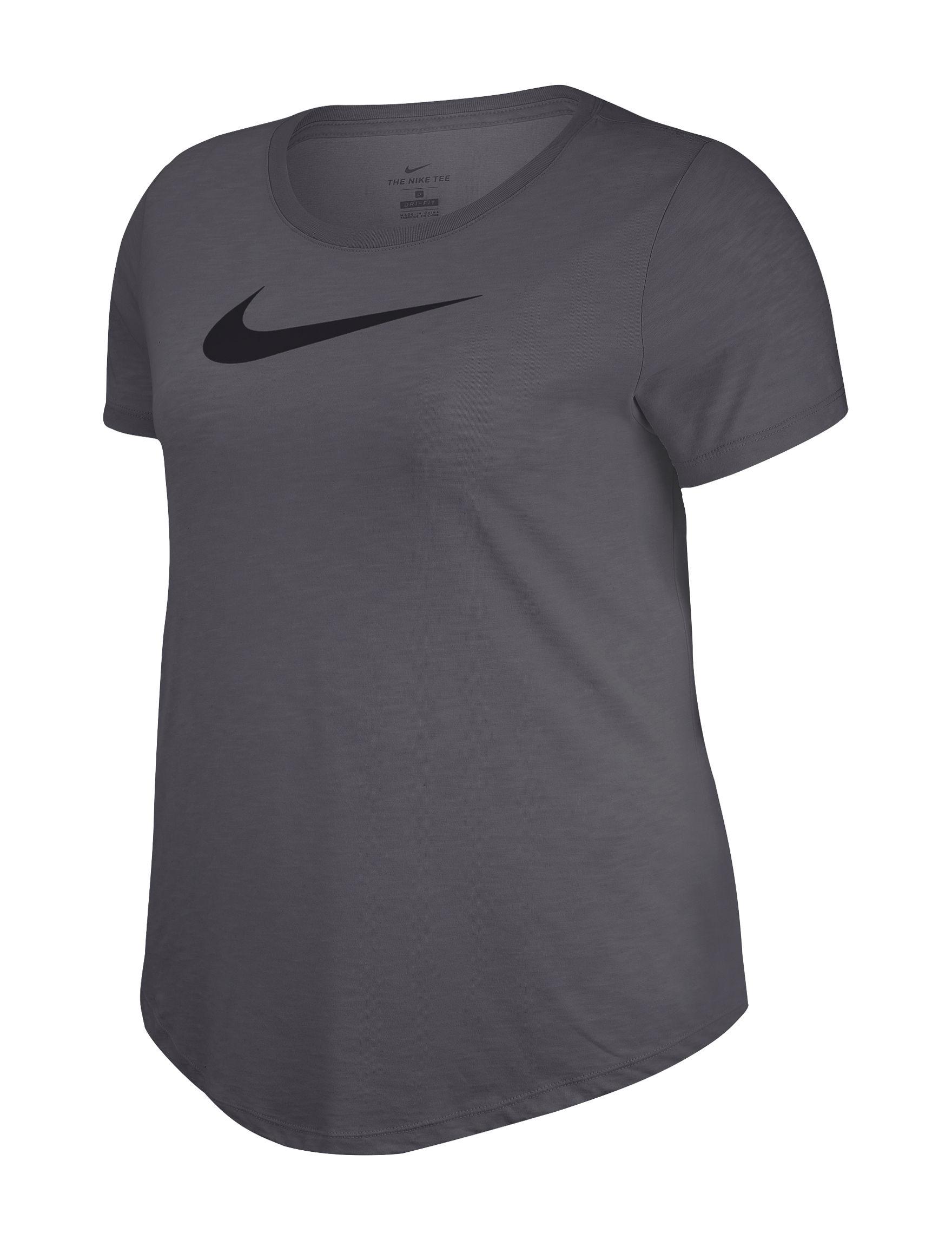 Nike Dark Heather Grey Active Tees & Tanks