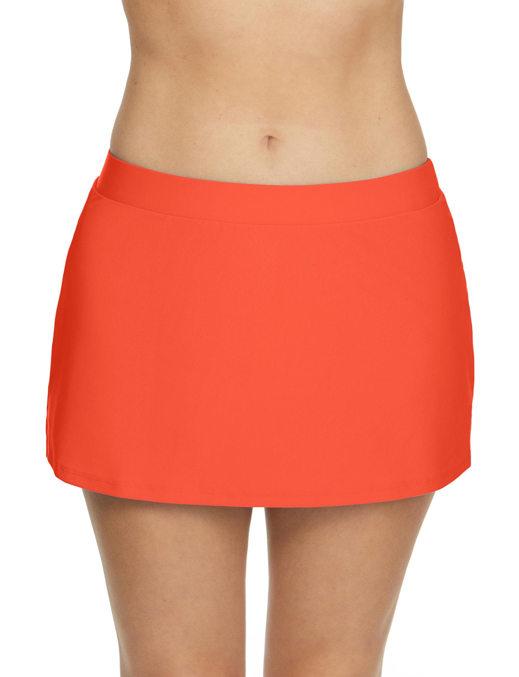 Beach Diva Orange Swimsuit Bottoms Skirtini