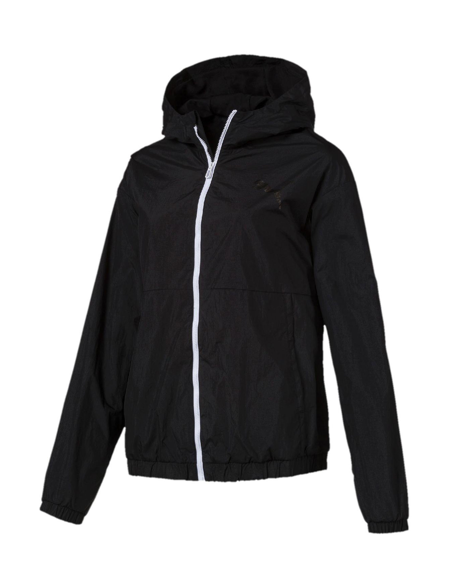 Puma Black White Active Lightweight Jackets & Blazers
