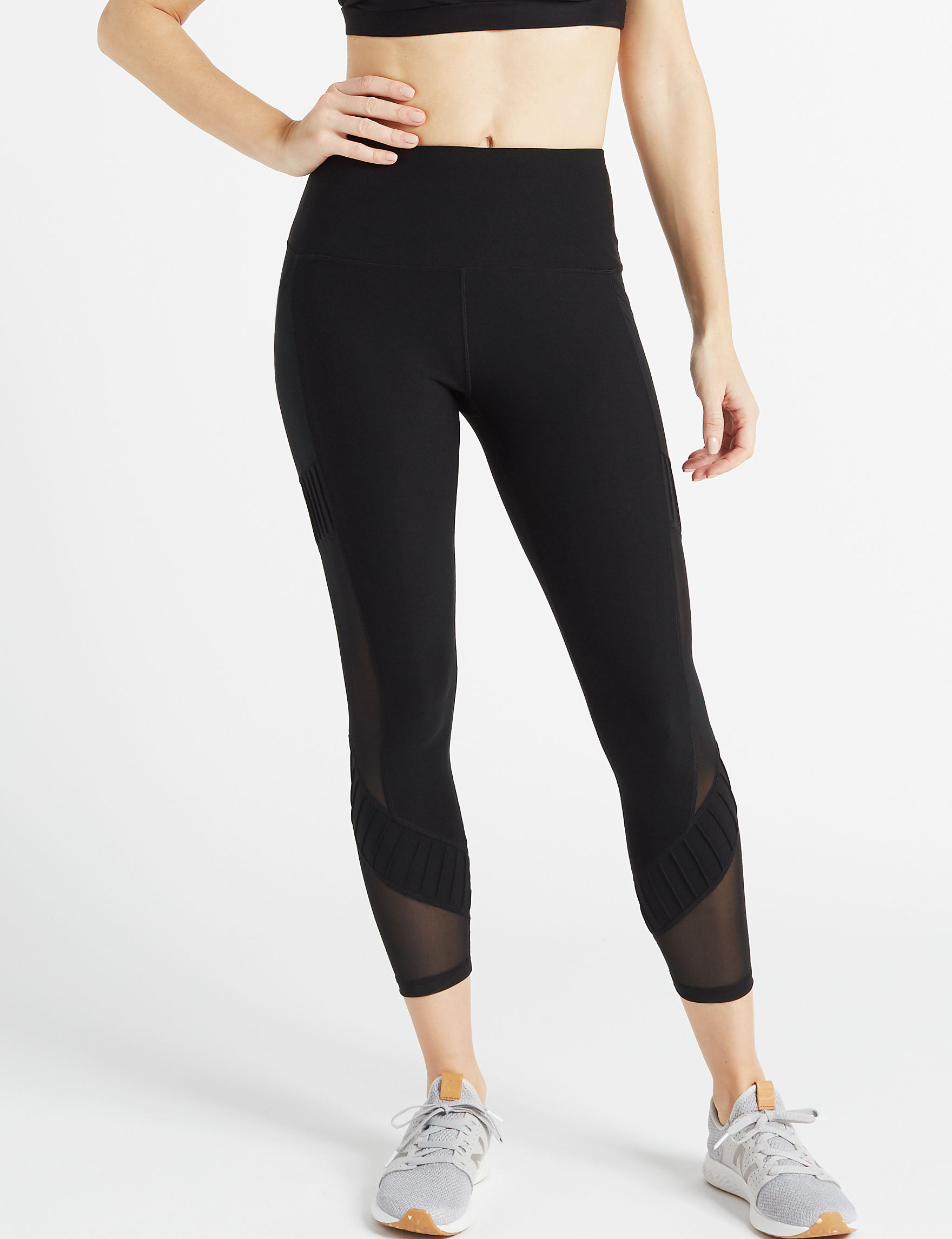 RBX Black Active Capris & Crops Leggings