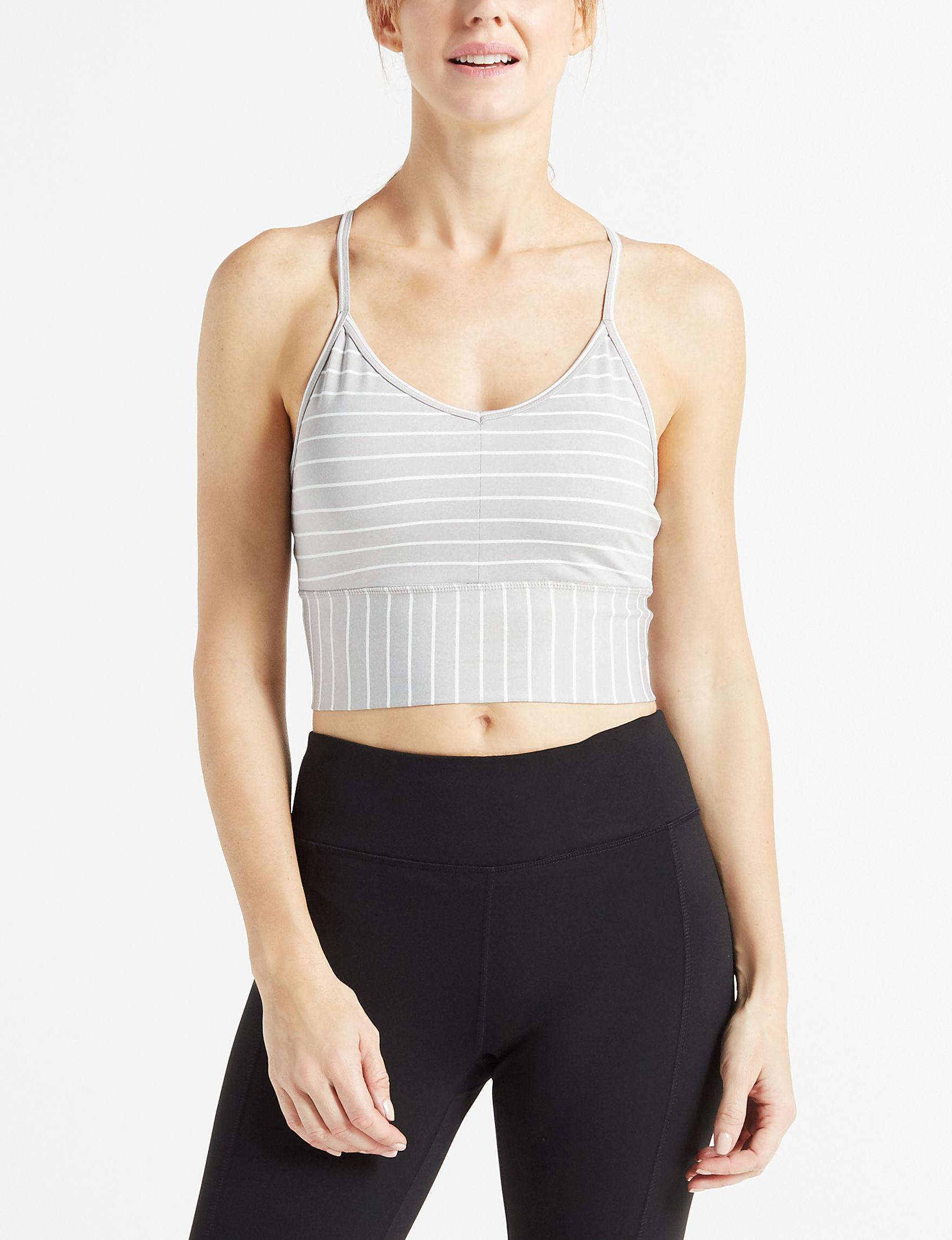 Gaiam Grey / White Active Bras Sports Bra