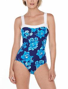 8665e3c792e81 Trimshaper Women's Viva La Paris Floral Slimming One-piece Swimsuit
