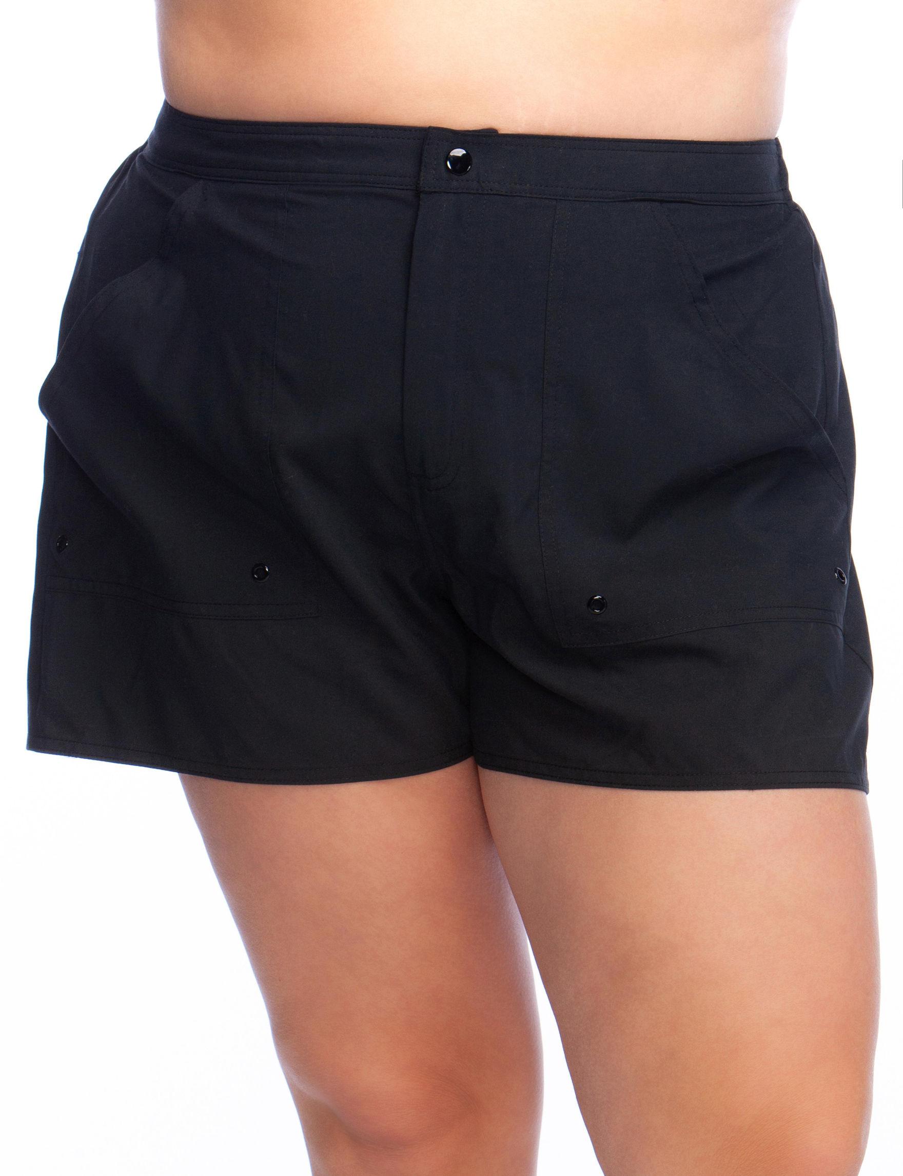 Maxine of Hollywood Black Swimsuit Bottoms Boyshort
