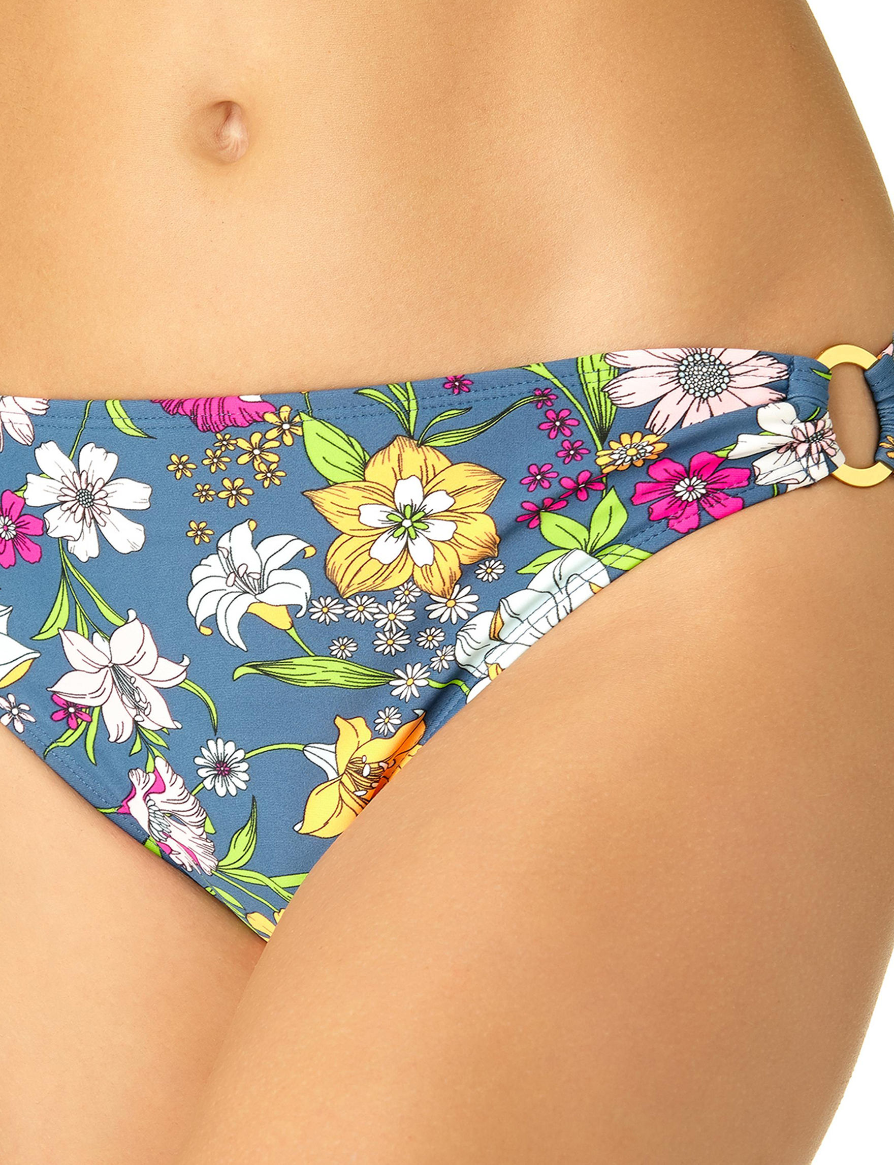 California Sunshine Floral Swimsuit Bottoms Hipster