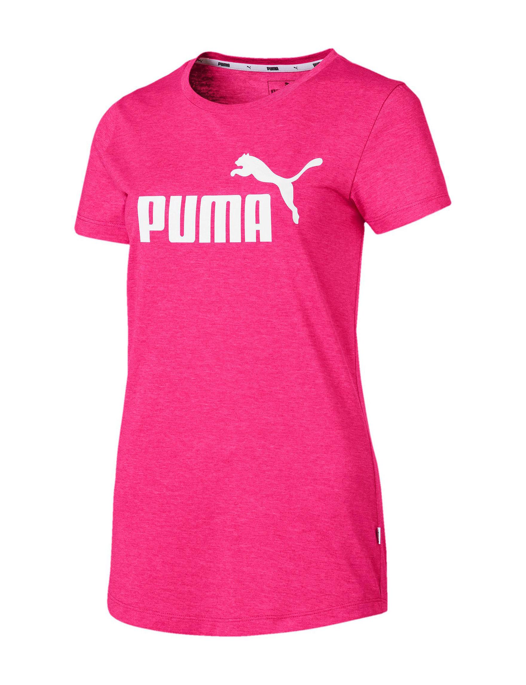 Puma Fuschia Active Tees & Tanks