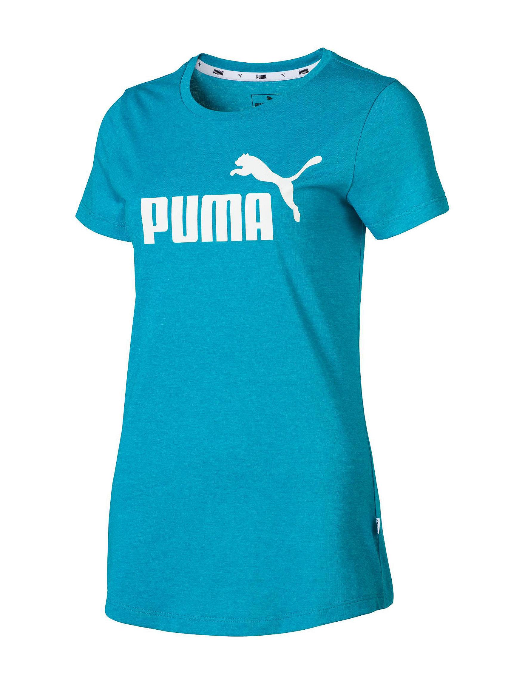 Puma Teal Tees & Tanks