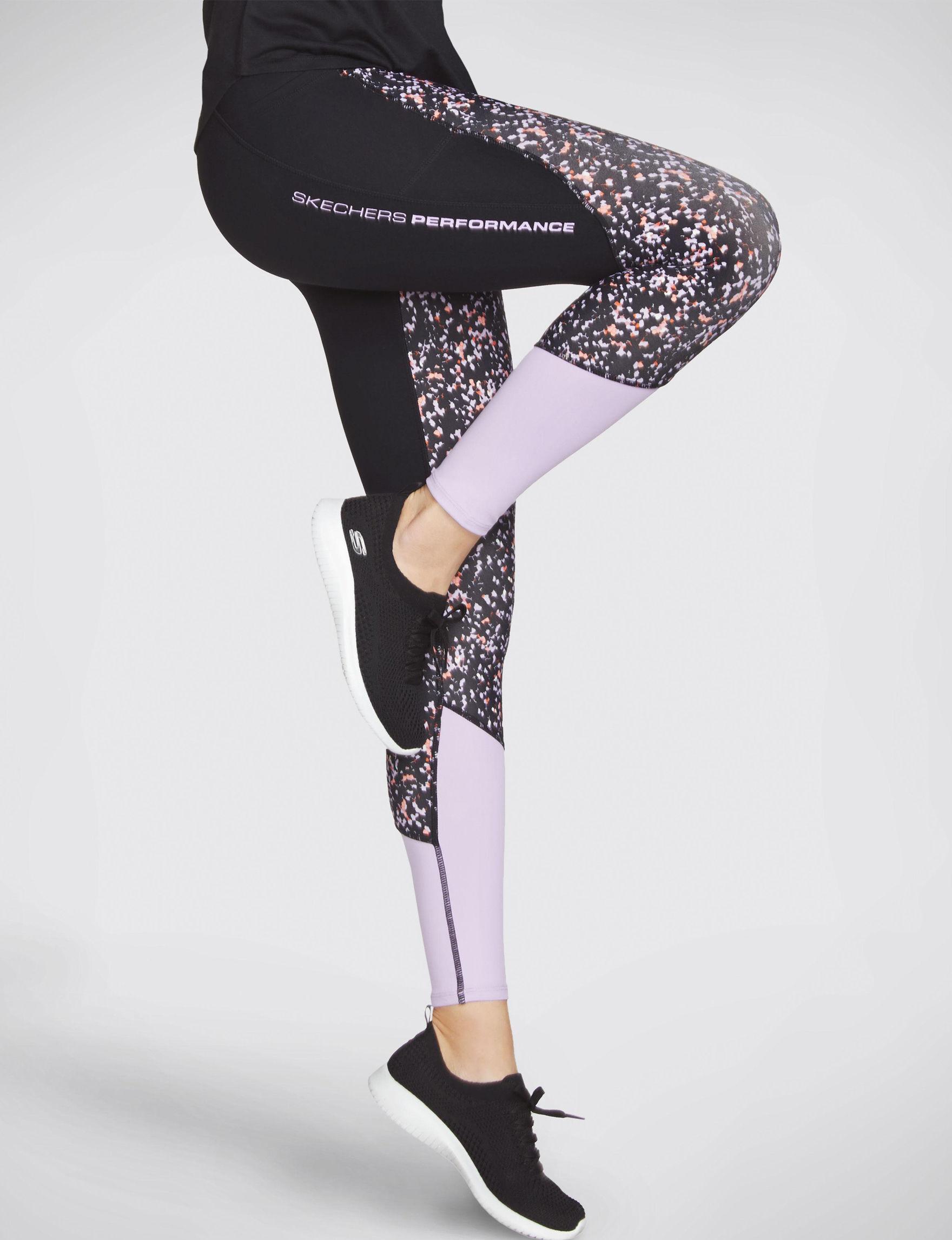 Skechers Black / Lavendar Active Leggings