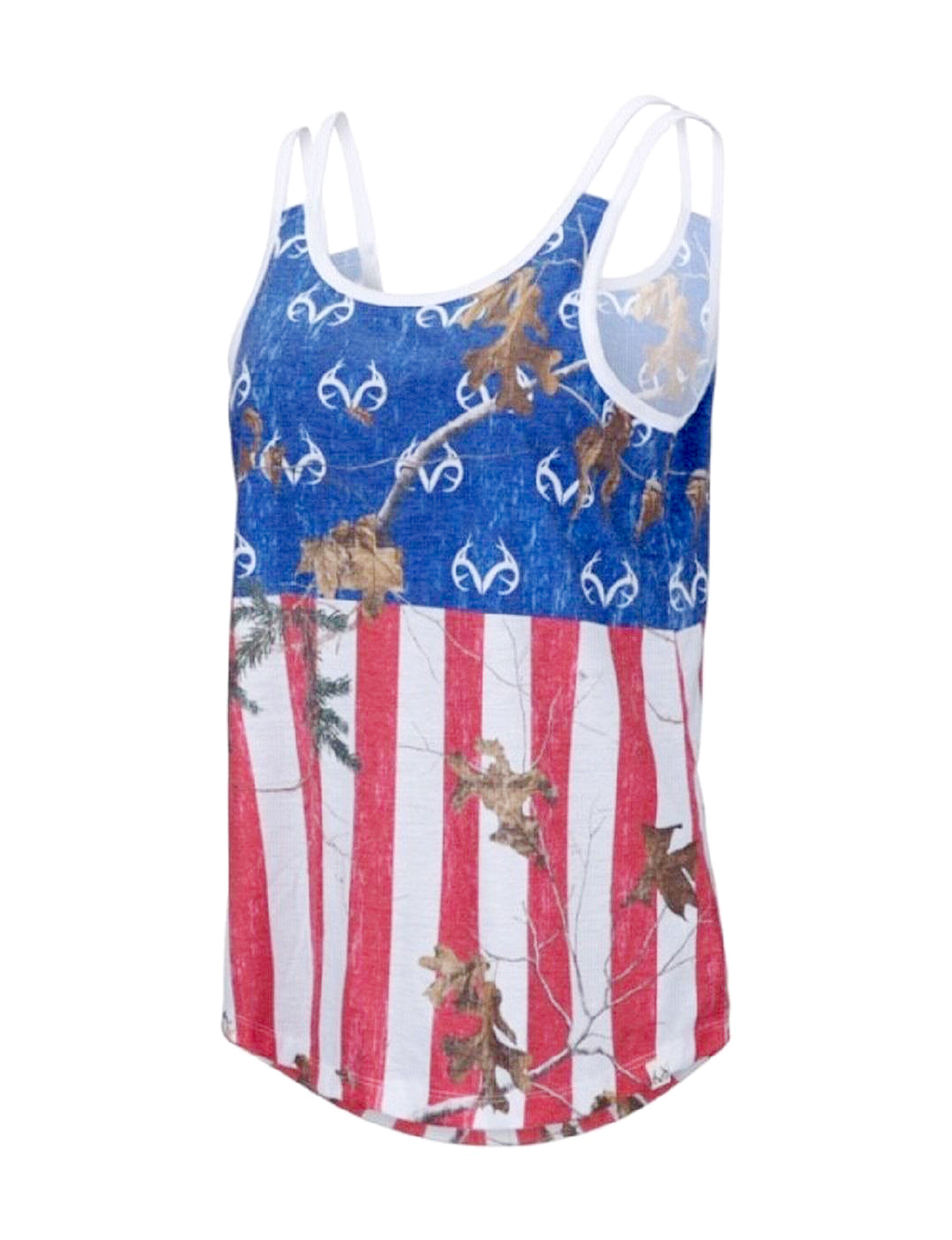 43651d9e89a492 Realtree Women's Independence Day Flag Tank Top | Stage Stores