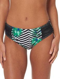 Skechers Black / White / Leaf Swimsuit Bottoms Bikini Hipster