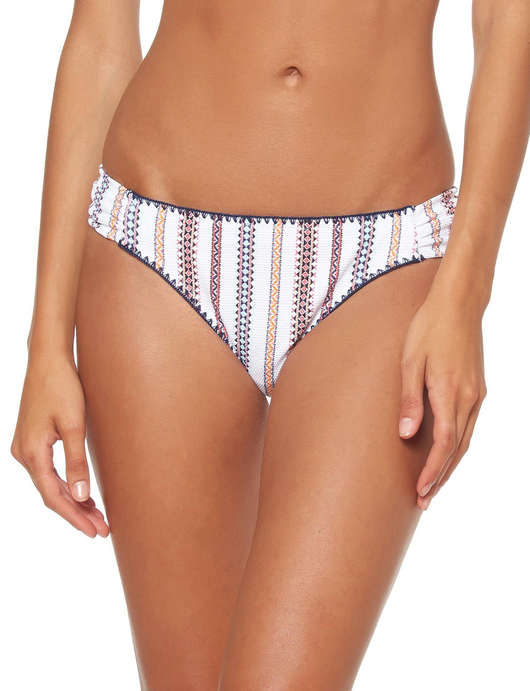 Jessica Simpson White Swimsuit Bottoms Hipster