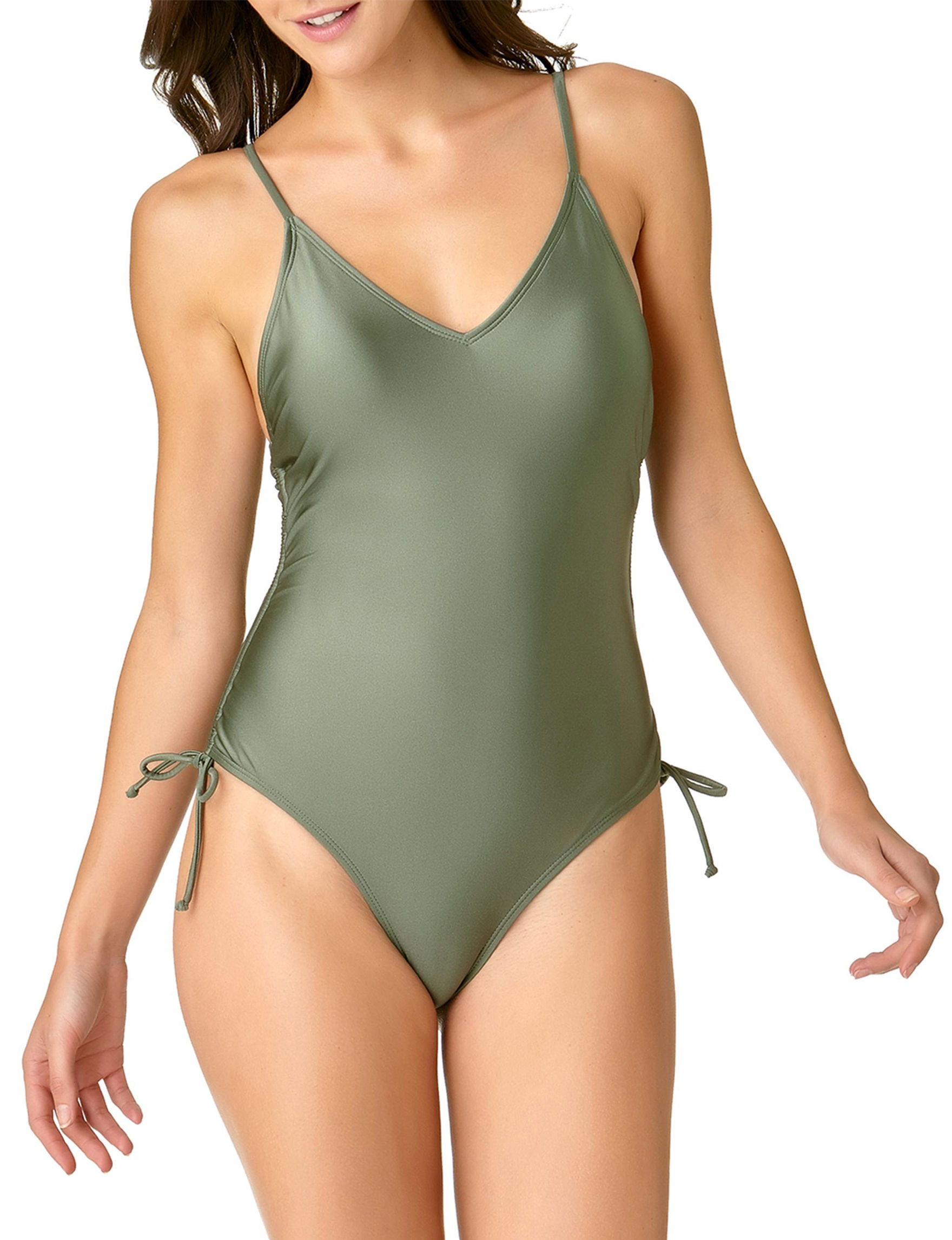 California Sunshine Olive One-piece Swimsuits