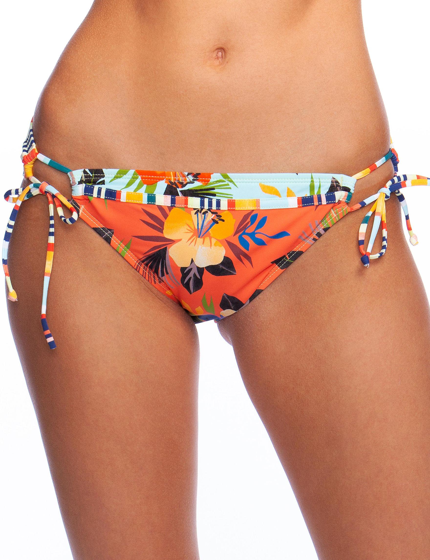 Hobie Orange Multi Swimsuit Bottoms Hipster