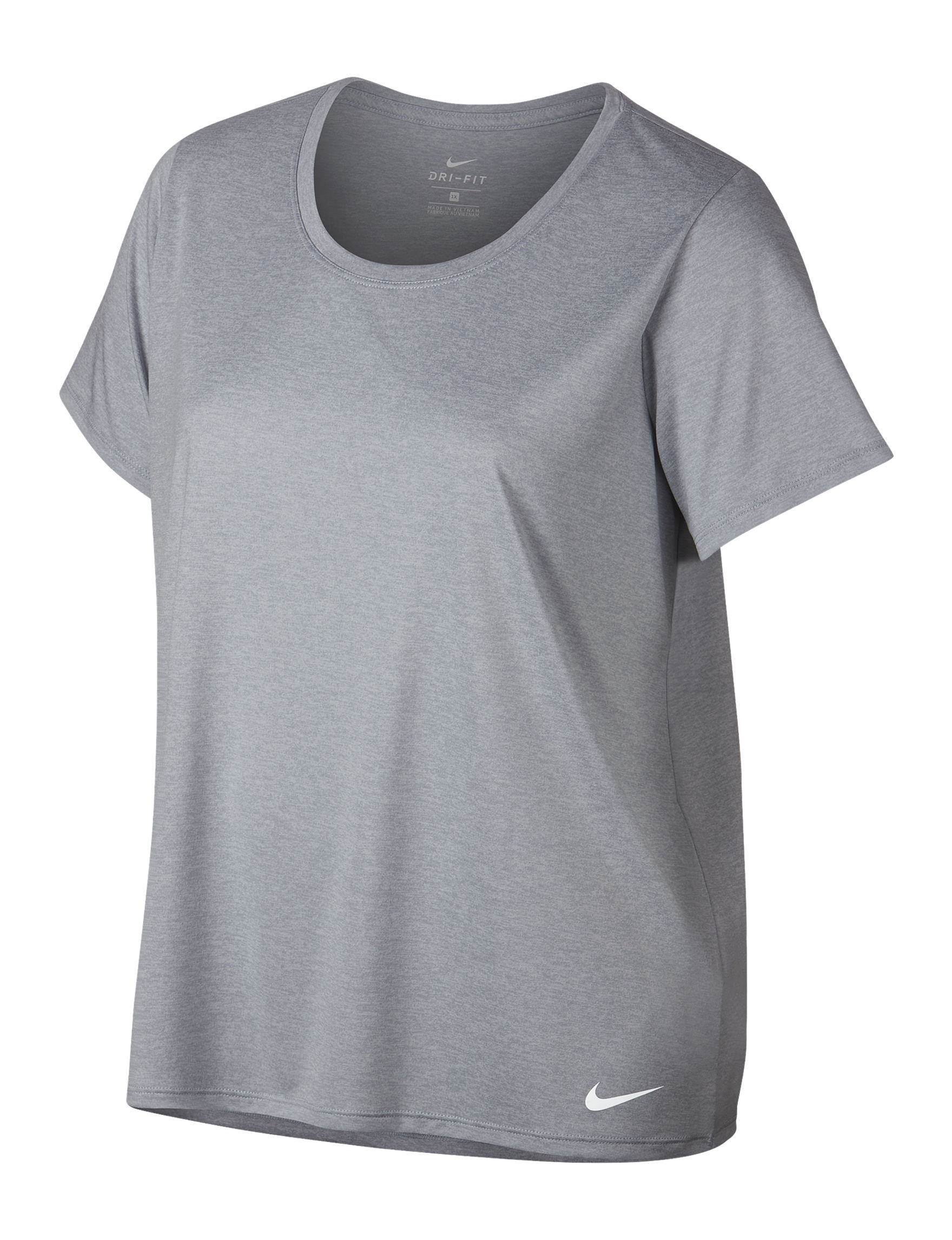 Nike Wolf Grey / White Active Tees & Tanks